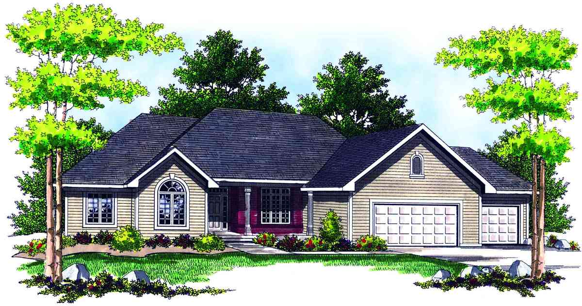 Traditional ranch home plan 89132ah architectural for Traditional ranch home plans