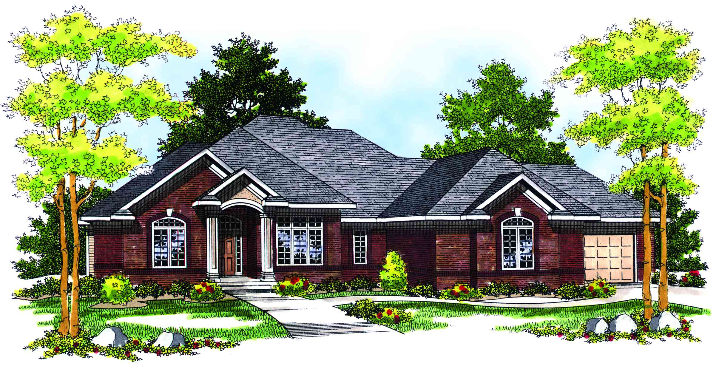 Traditional ranch style home plan 89133ah for Traditional ranch house