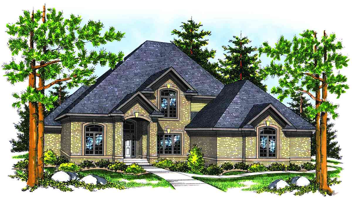 Traditional two story home plan 89136ah architectural for Traditional house plans two story