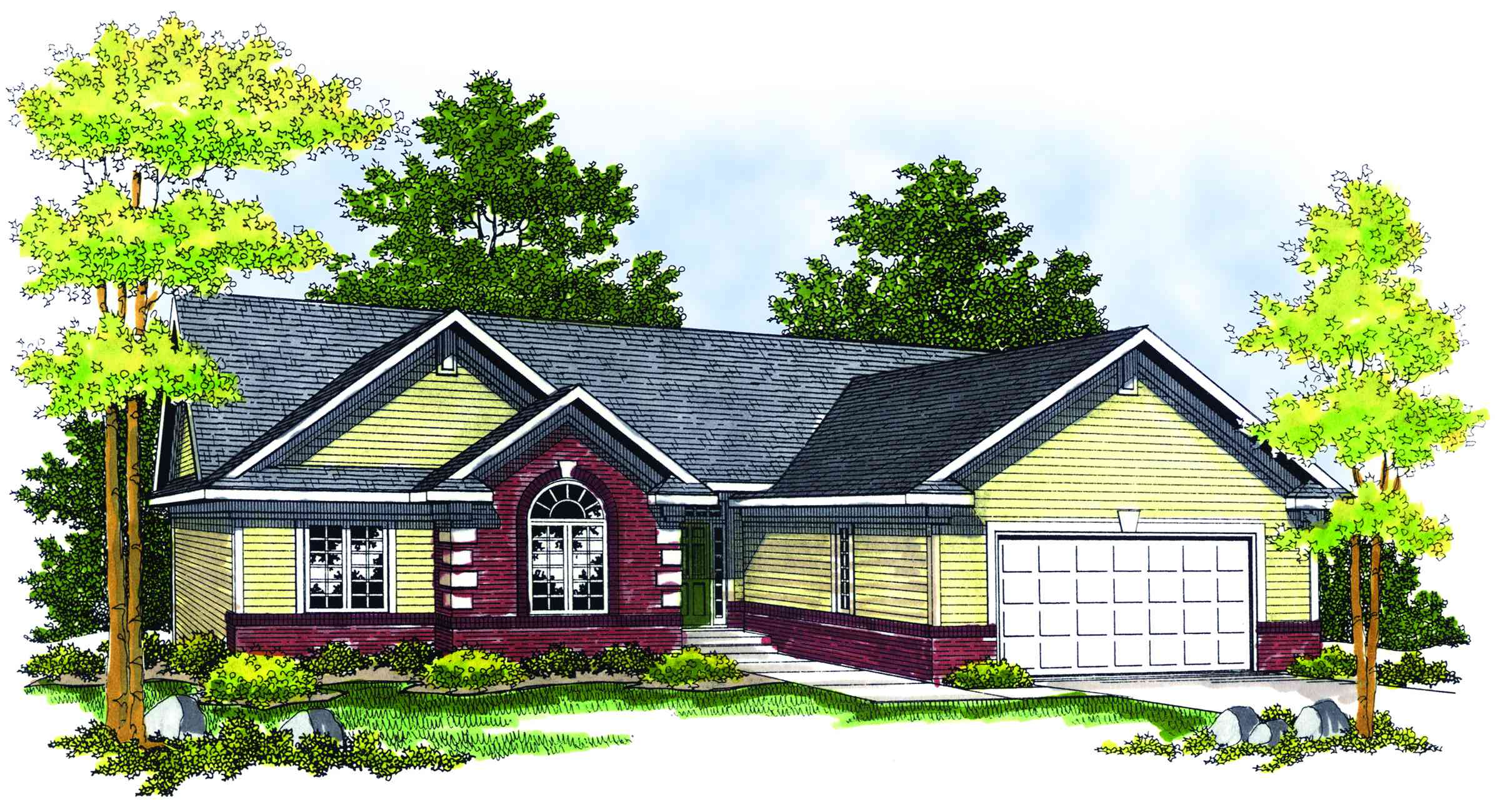 Traditional ranch home plan 89141ah 1st floor master for Traditional ranch homes