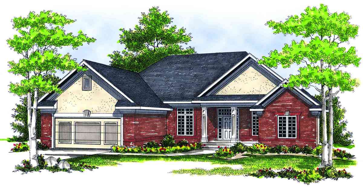 Traditional ranch with three season porch 89143ah for Traditional ranch house plans
