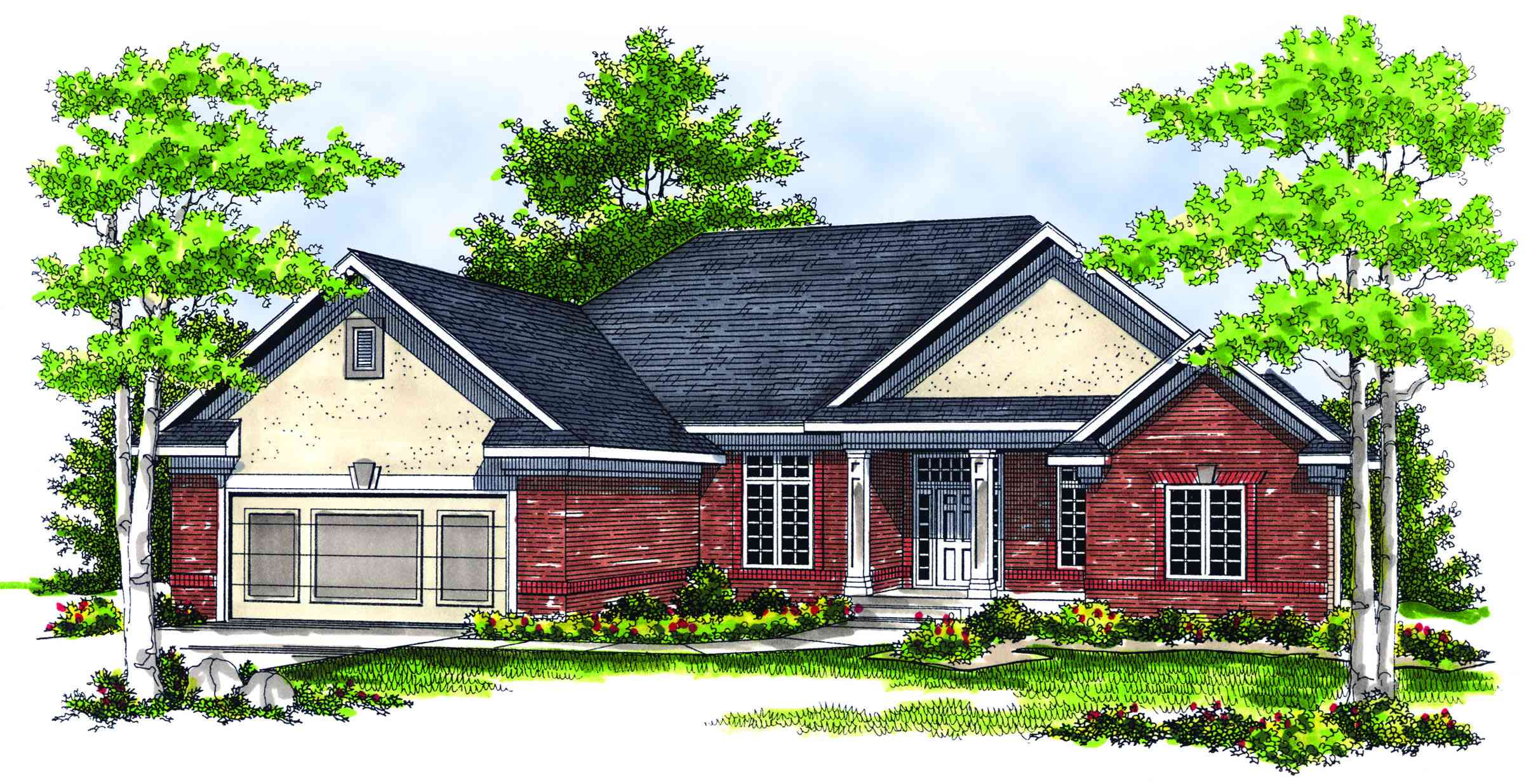 Traditional ranch with three season porch 89143ah for Traditional ranch home plans