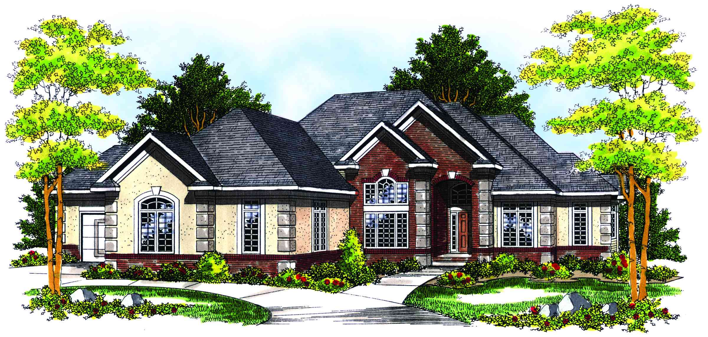 Perfect for hillside lots 89145ah 1st floor master Hillside house plans for sloping lots
