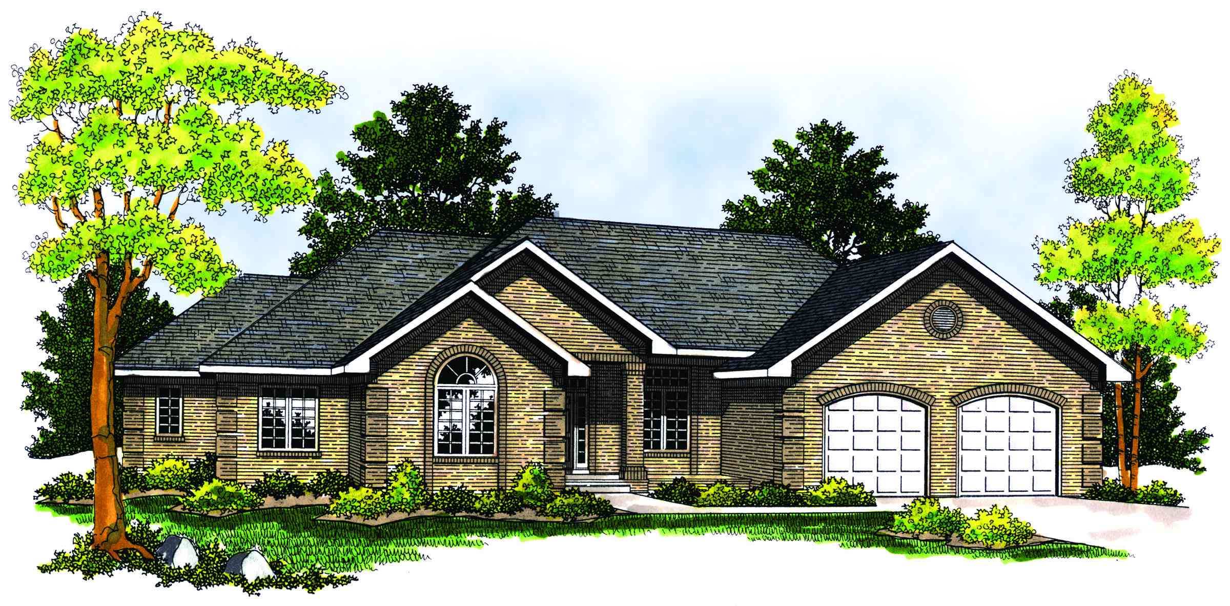 Beautiful ranch home plan 89150ah architectural for Beautiful ranch home designs