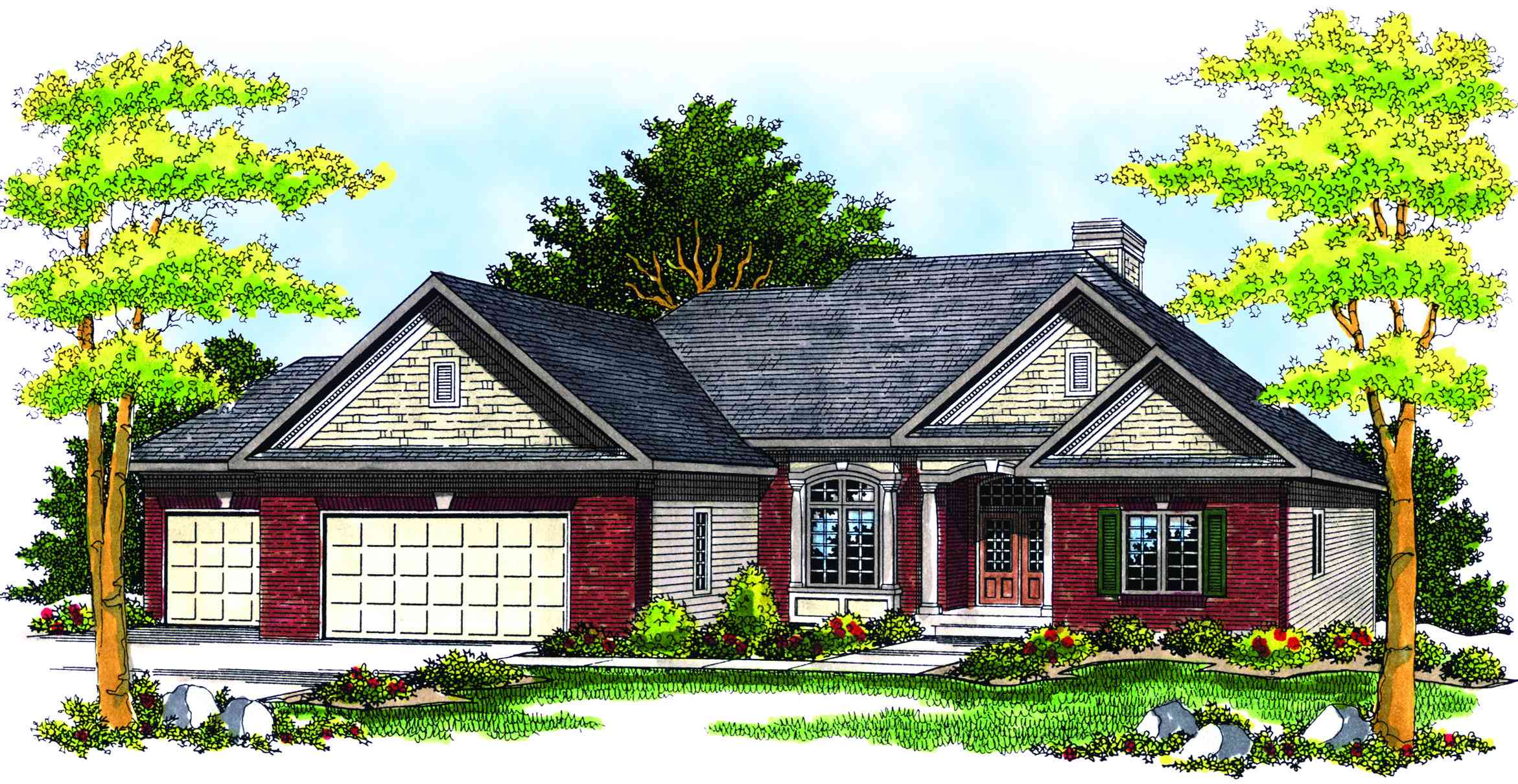 Traditional ranch house plan 89156ah architectural for Traditional ranch house