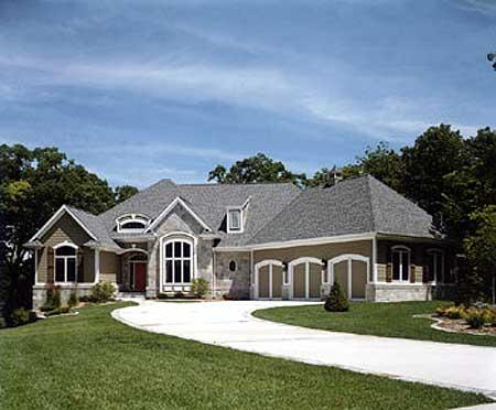 Hillside european home plan 89158ah 1st floor master for European home collection