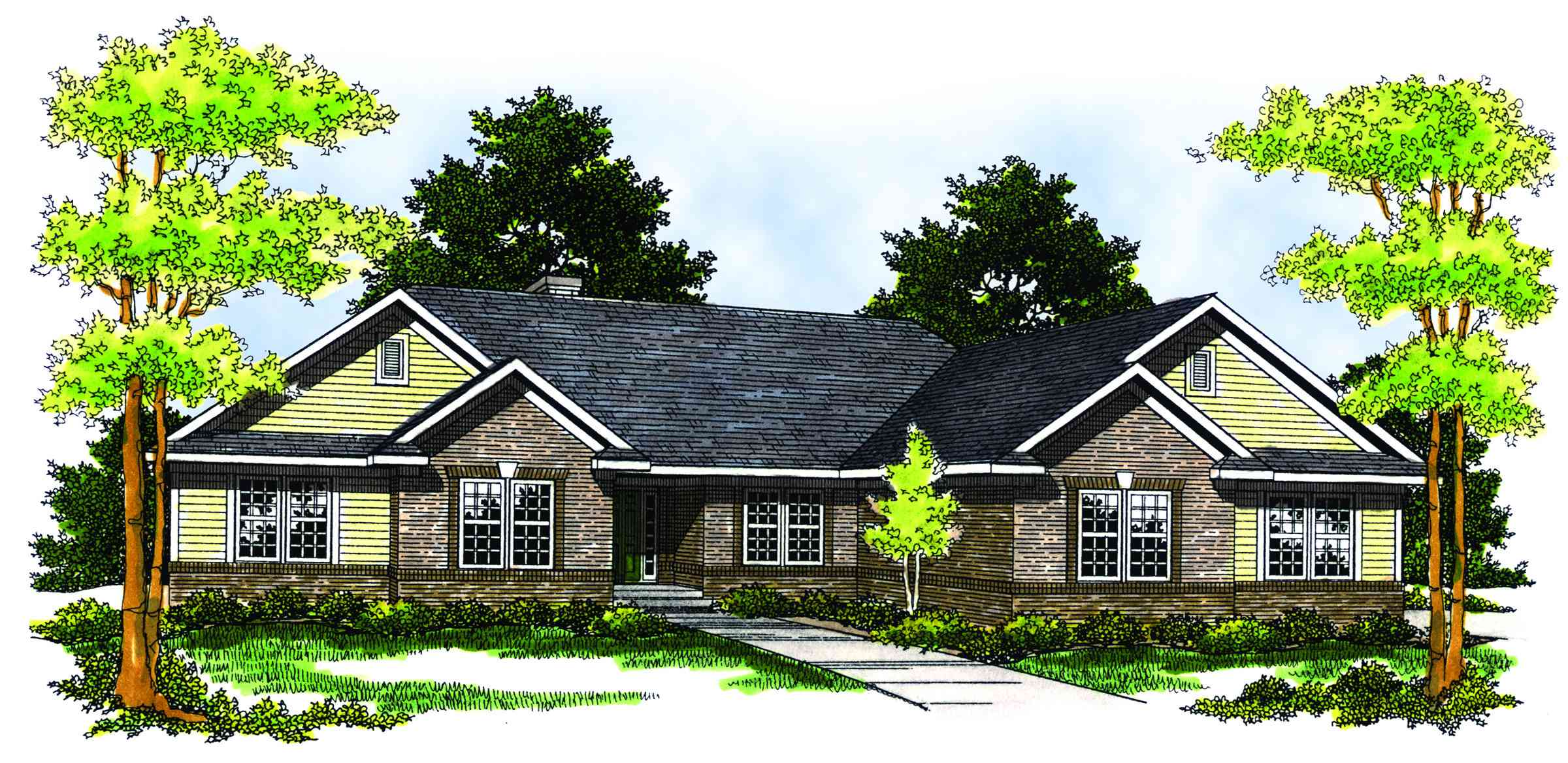 Luxurious traditional ranch 89162ah architectural for Traditional ranch house plans