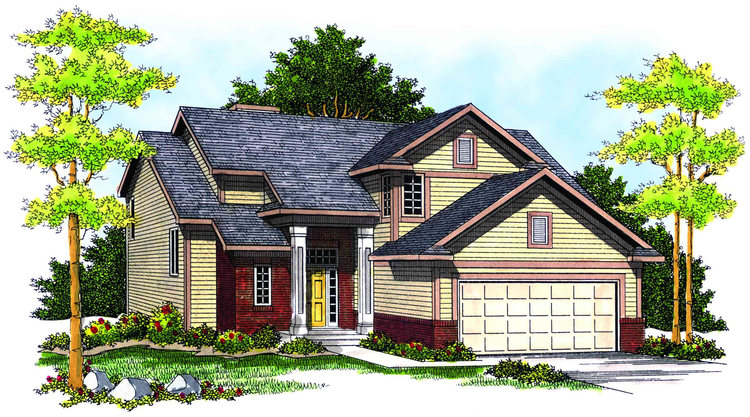 Transitional Home Plan With Contemporary Accents 89168ah