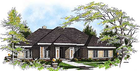 Ranch home plan with sunroom 89871ah ranch for Ranch house plans with sunroom