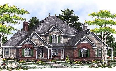 French country two story home plan 89194ah 1st floor for Two story french country house plans
