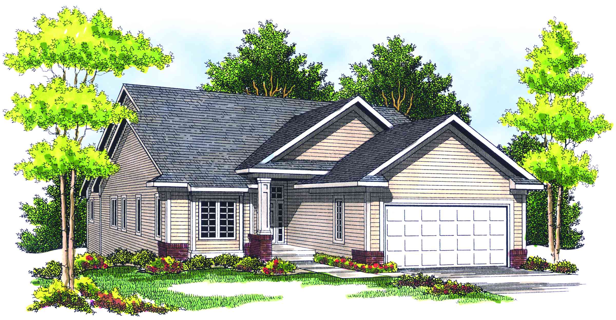 Affordable ranch home plan 89198ah architectural for Cheap ranch house plans