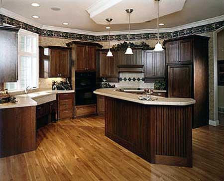 Large Kitchen   Unique Shape   AH   st Floor Master Suite    Plan AH ArchitecturalDesigns com