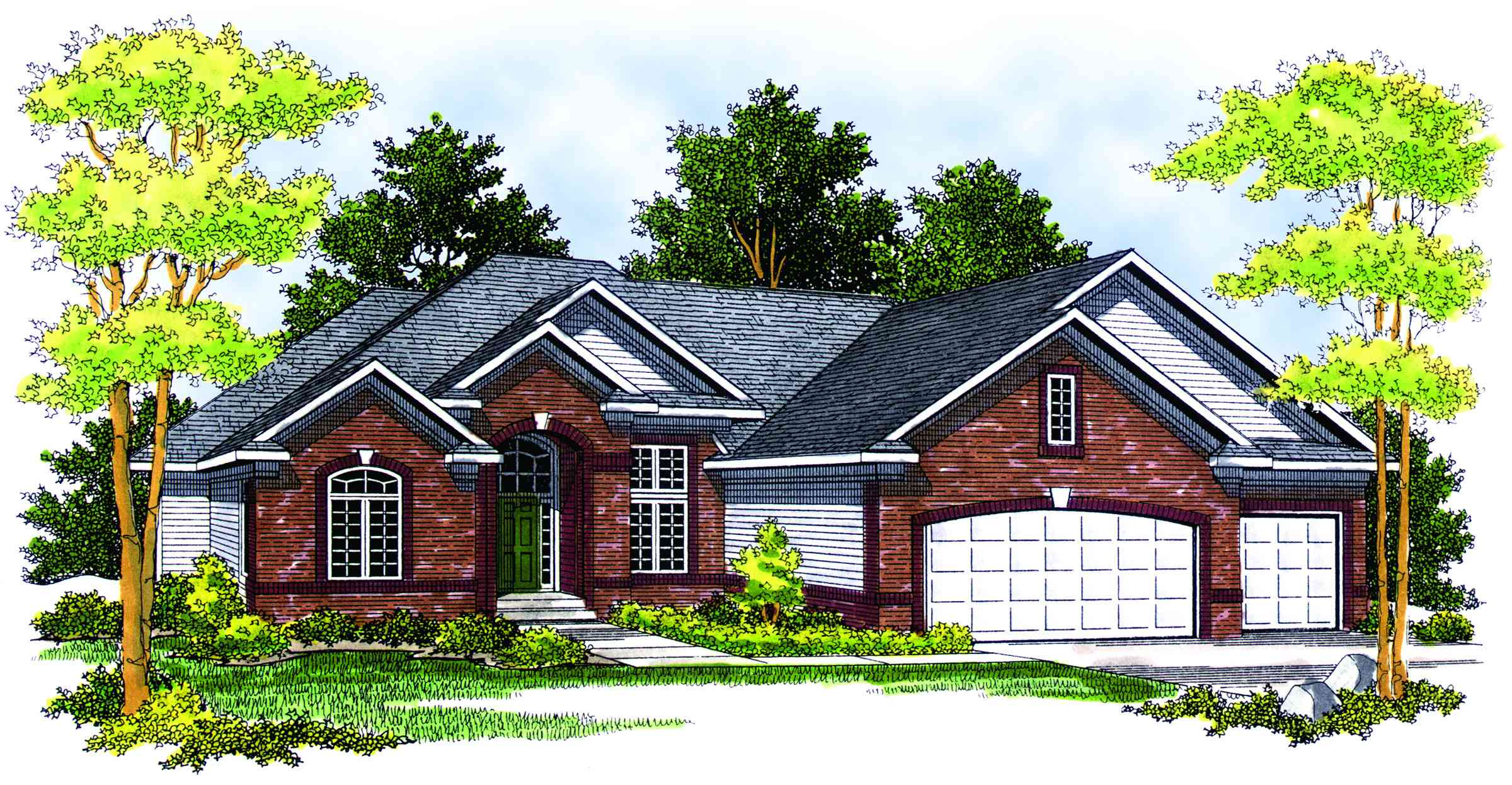 Traditional ranch with finished basement 89208ah for House plans with finished photos