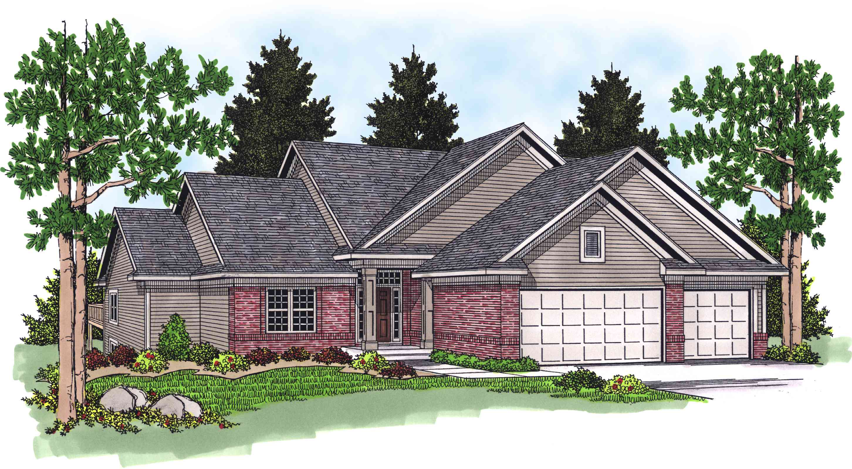 Five Bedroom Sloping Home Plan 89218ah Architectural