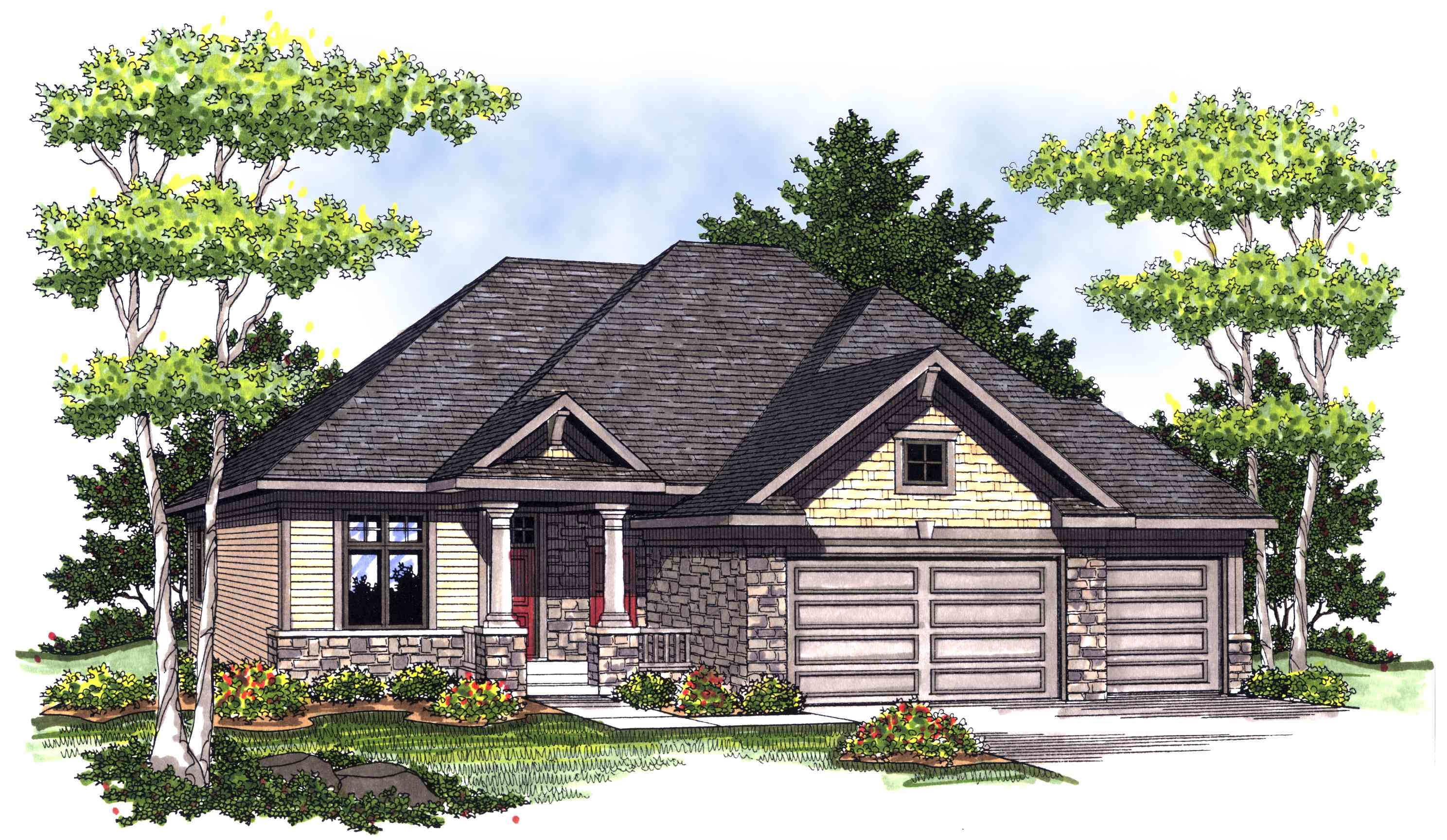 European inspired ranch 89222ah architectural designs for Reverse ranch house plans