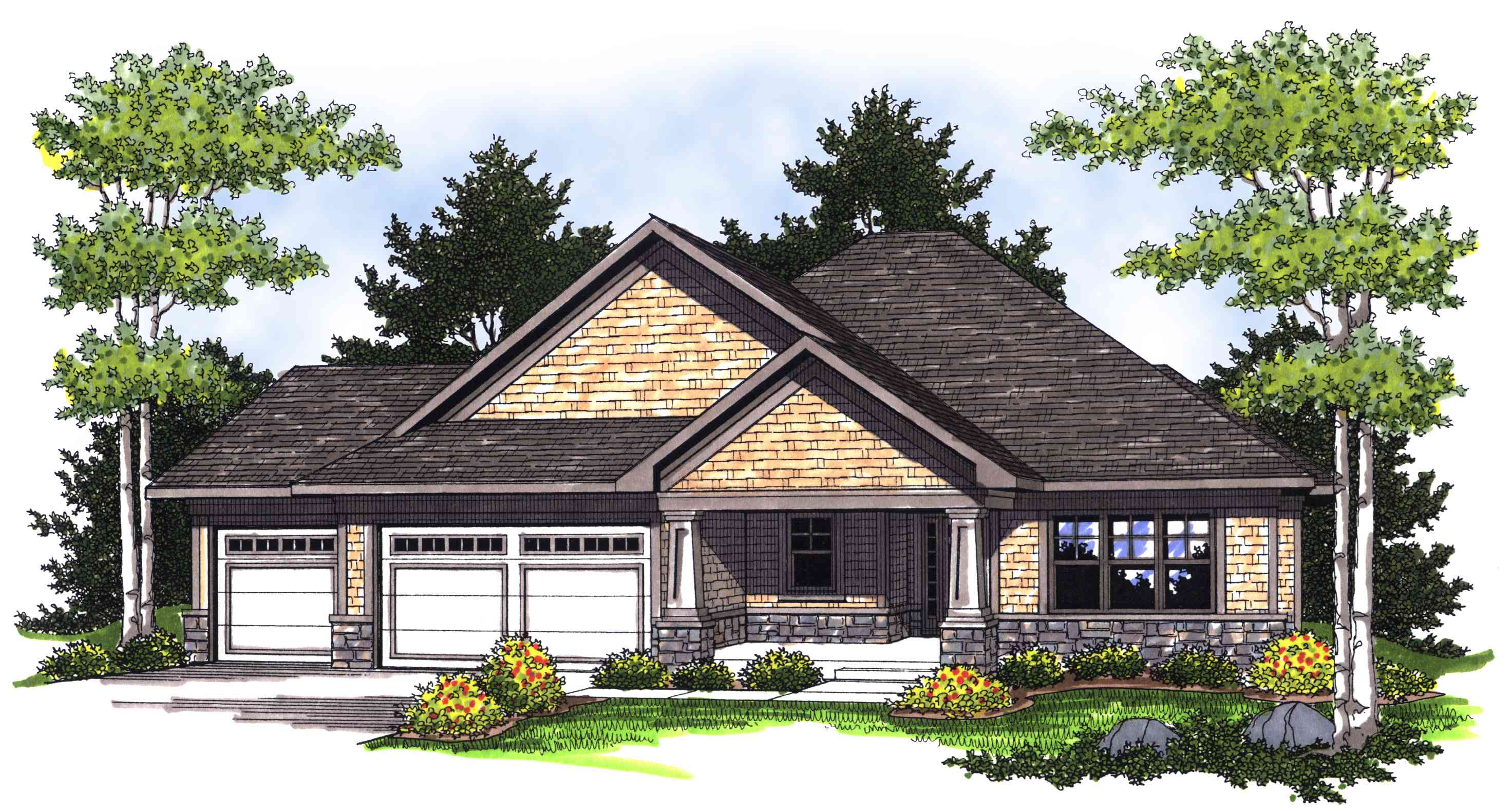 Ranch with Craftsman Style Detail - 89226AH | Architectural Designs - House Plans