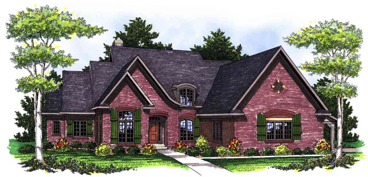 Unique blend of traditional and european 89248ah for Unique european house plans