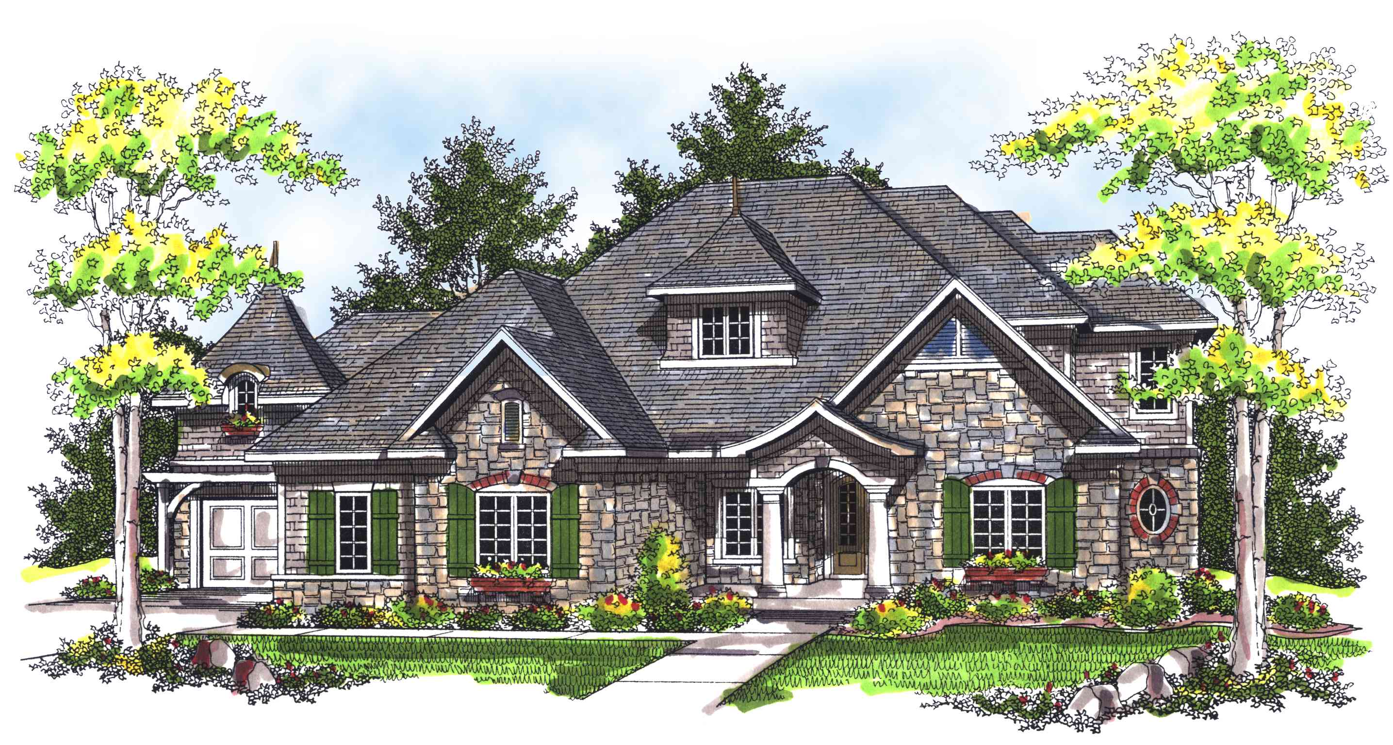 Chateau style home plan 89256ah architectural designs for Chateau style house plans