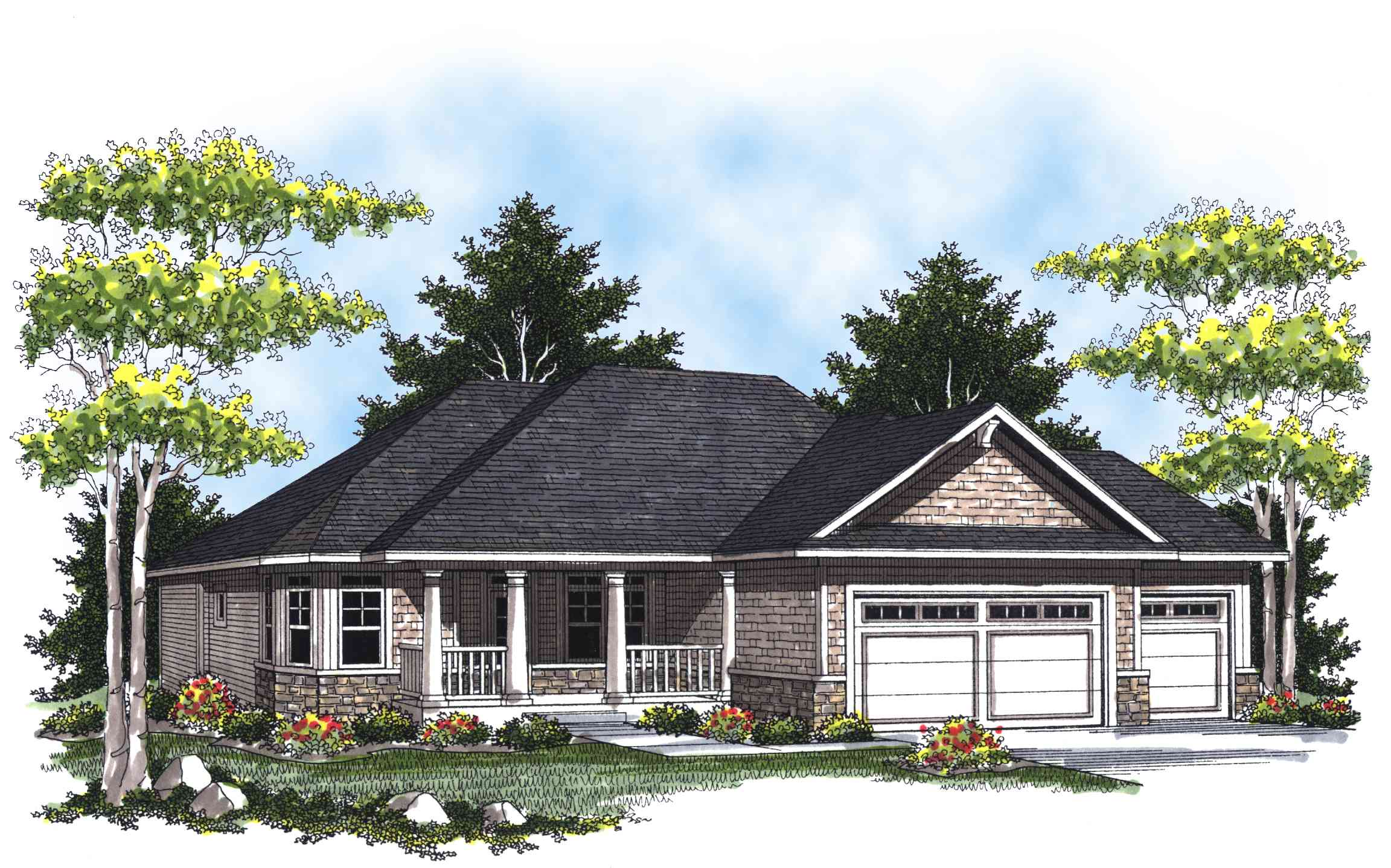 Charming ranch home plan 89263ah 1st floor master for New construction ranch style homes in illinois