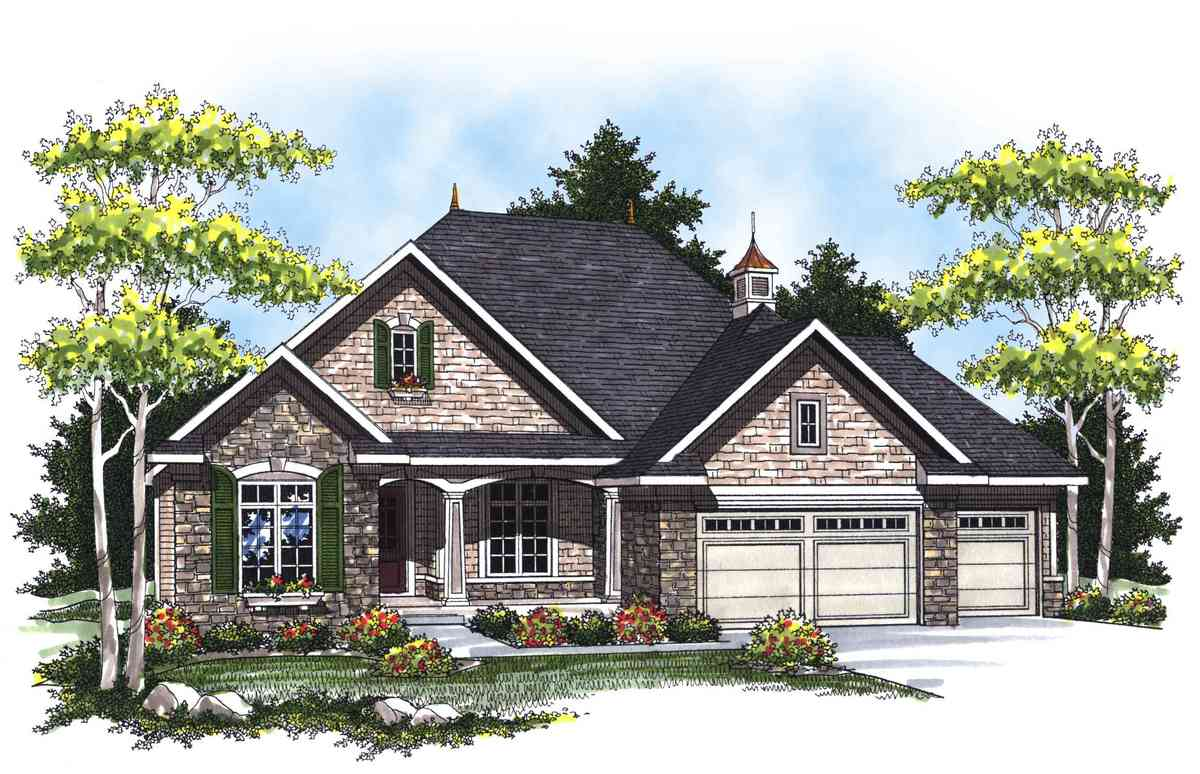 Country french ranch home plan 89265ah 1st floor for French country ranch home designs