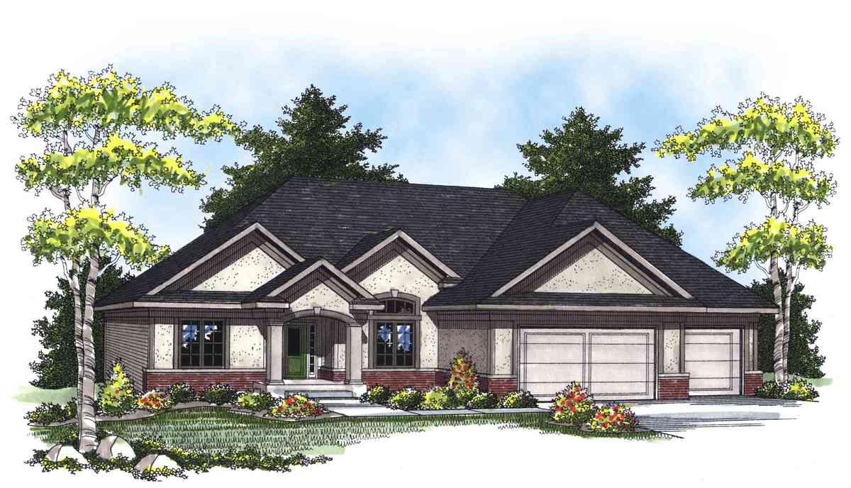 Traditional ranch home plan 89268ah architectural for Traditional ranch house