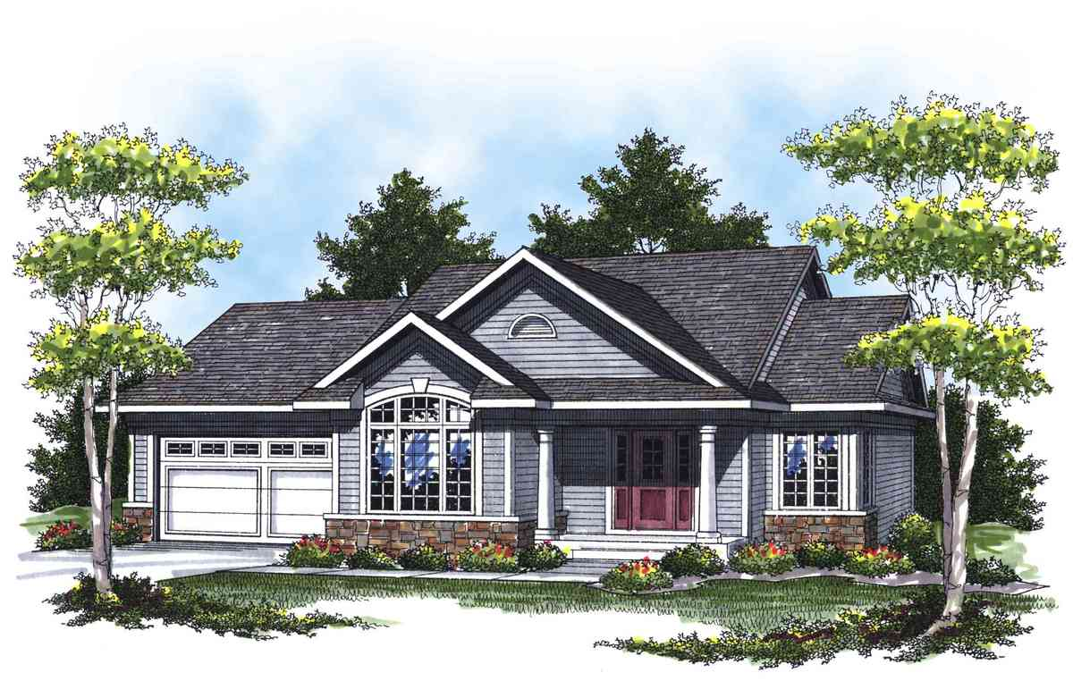 Lovely ranch with cathedral ceilings 89284ah for Cathedral ceiling house plans