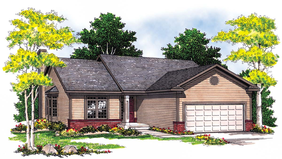 Functional compact home plan 89298ah architectural for Functional house plans