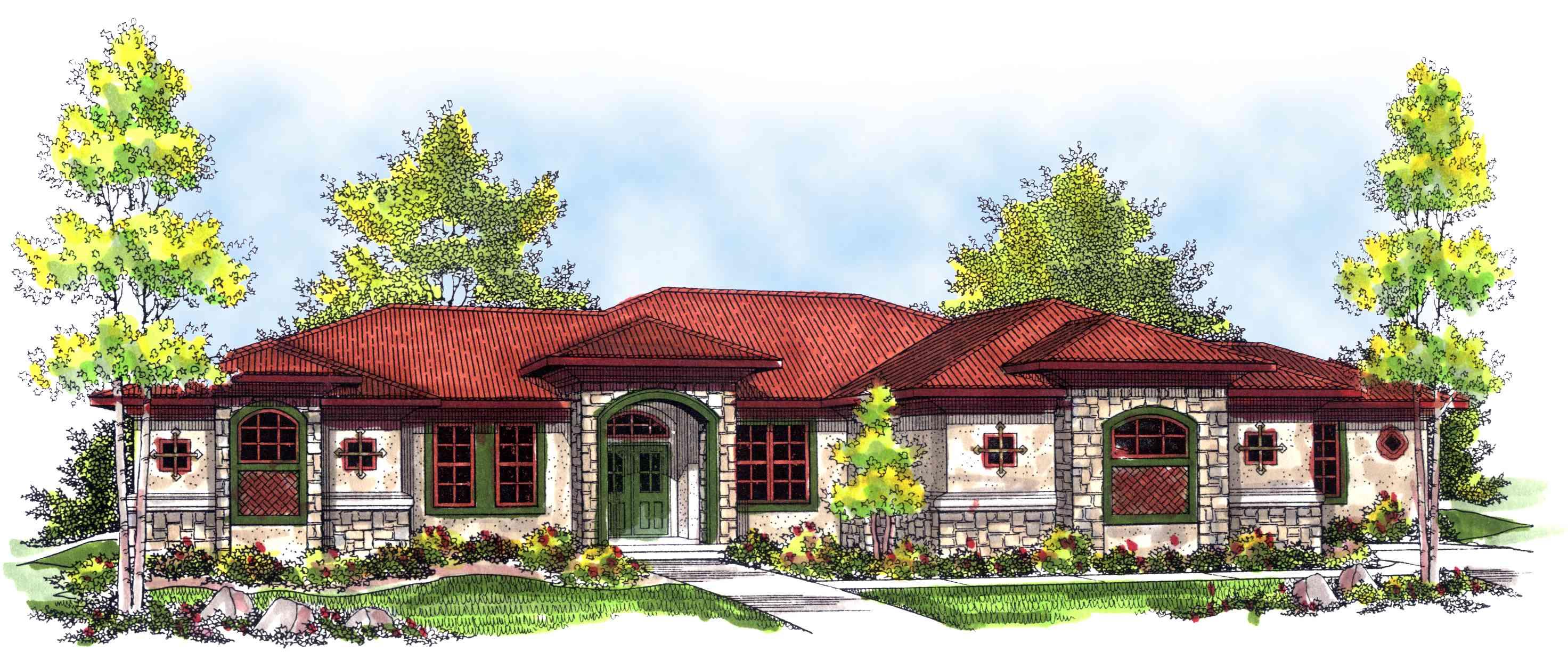 Mediterranean Ranch Home Plan 89311ah Architectural Designs House Plans