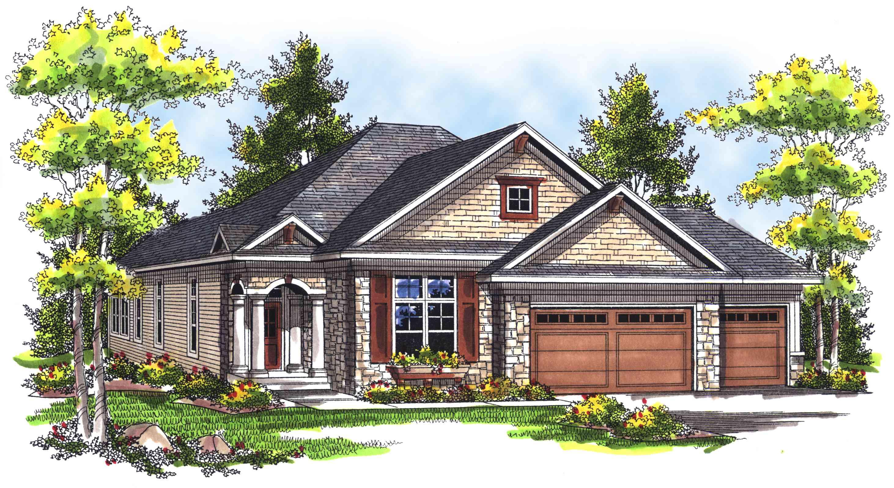 Narrow ranch 89312ah architectural designs house plans for Narrow ranch house plans