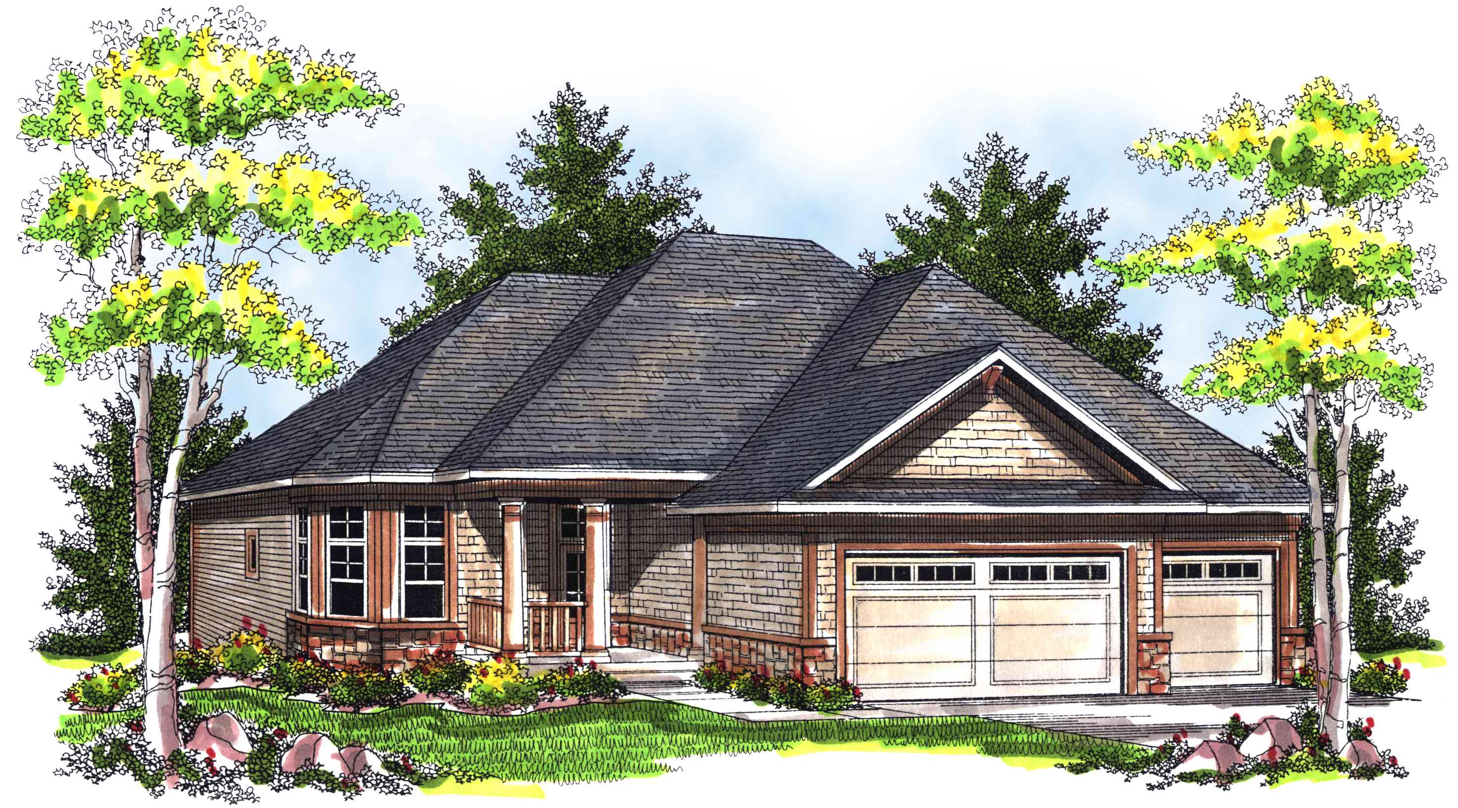 Affordable narrow ranch 89313ah 1st floor master suite for Narrow ranch house plans