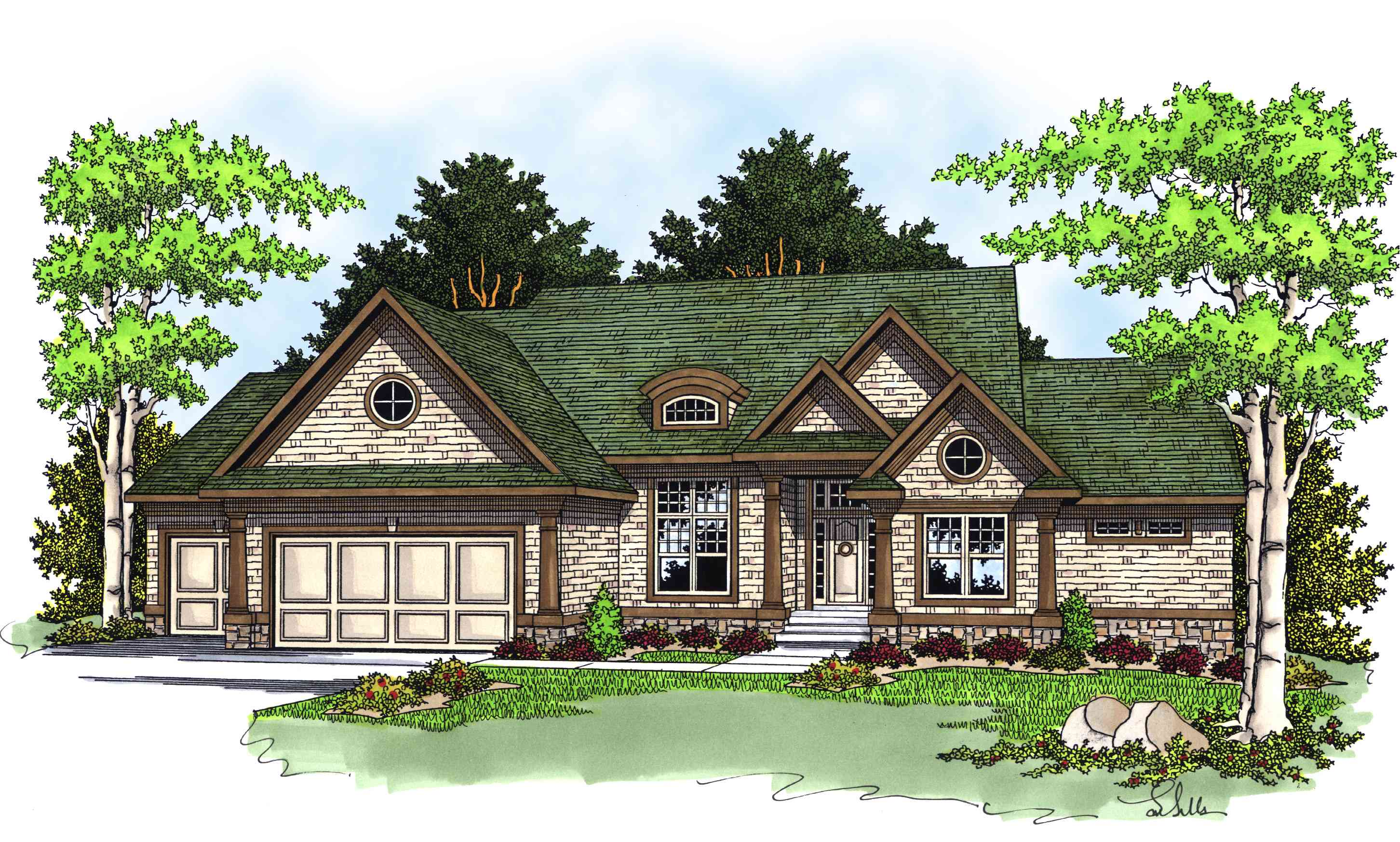 Home Plan For Rear Sloping Lot 8932ah Architectural