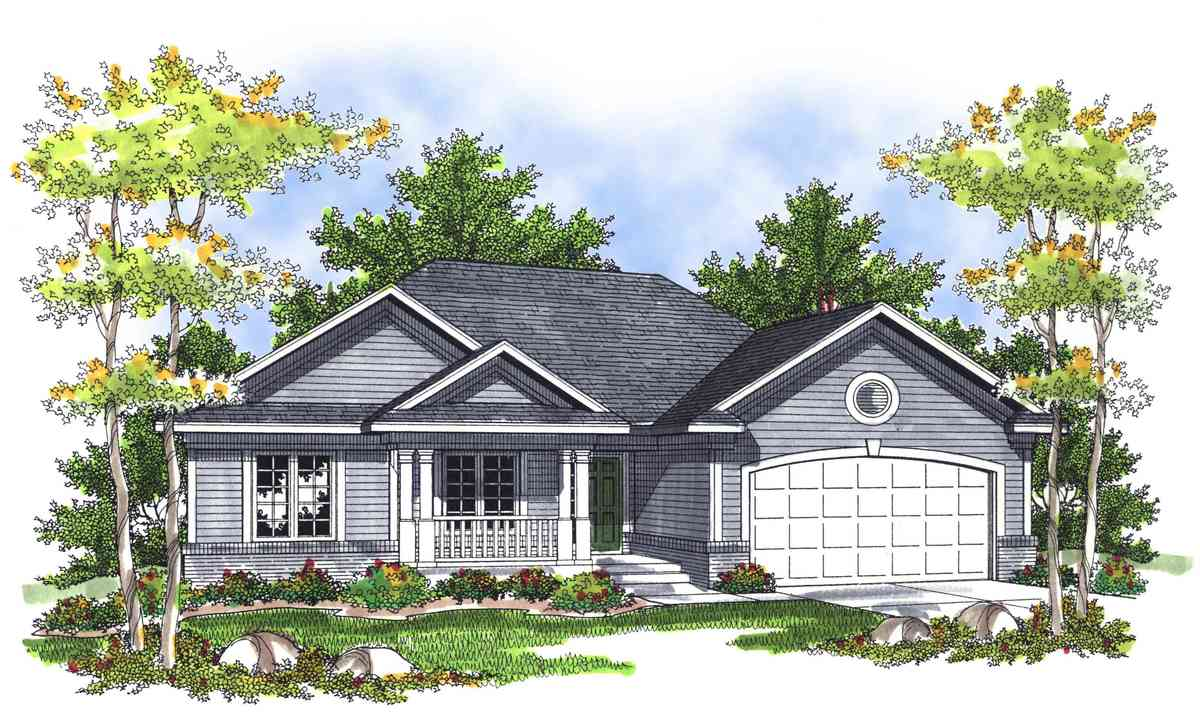 Narrow ranch home plan 89333ah architectural designs for Narrow ranch house plans