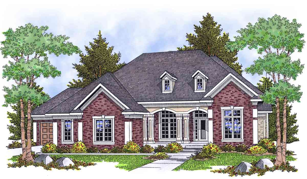 Blend Of Brick Stone Accents And Shingles 89361ah 1st