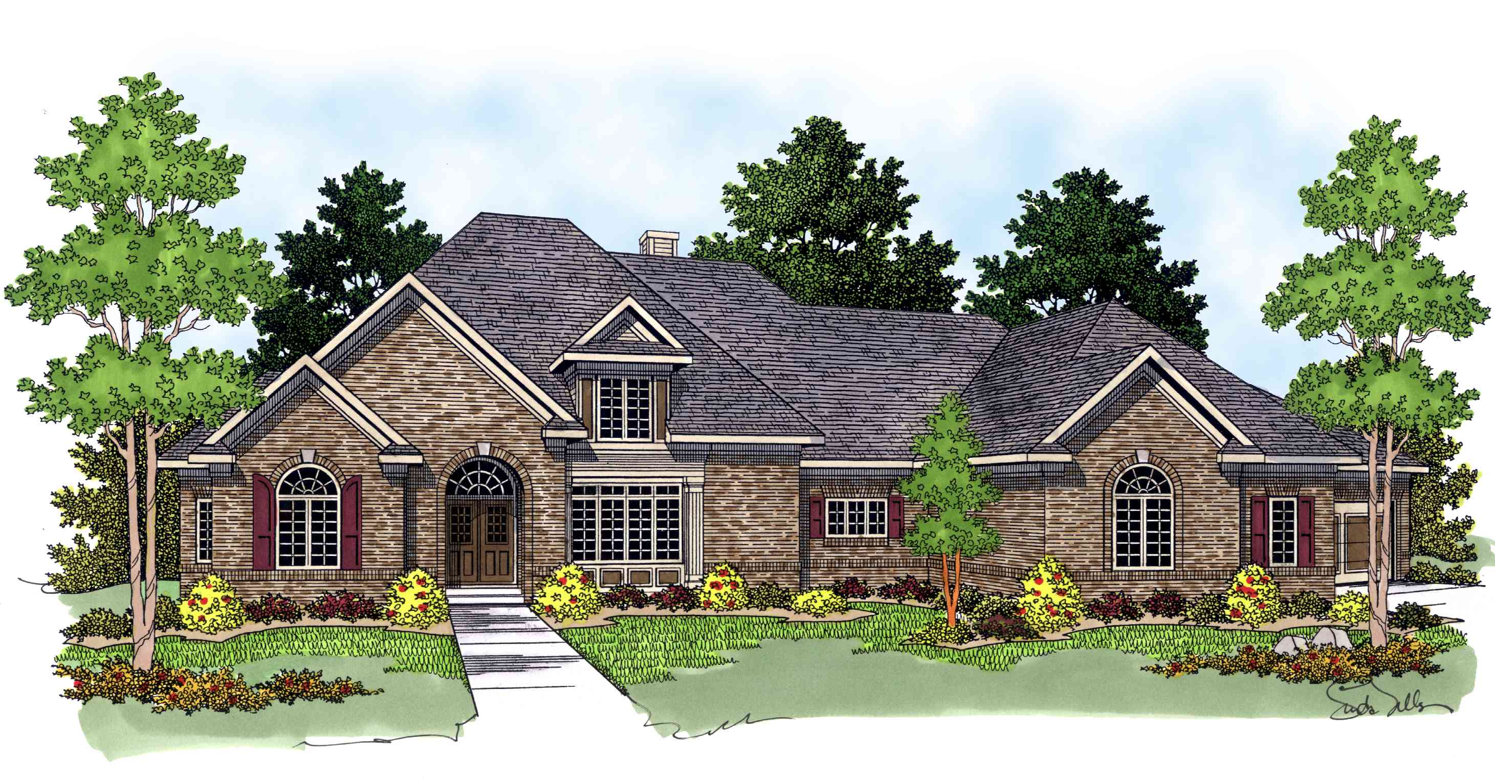 Story Foyer House Plans : Brilliant two story foyer ah architectural designs