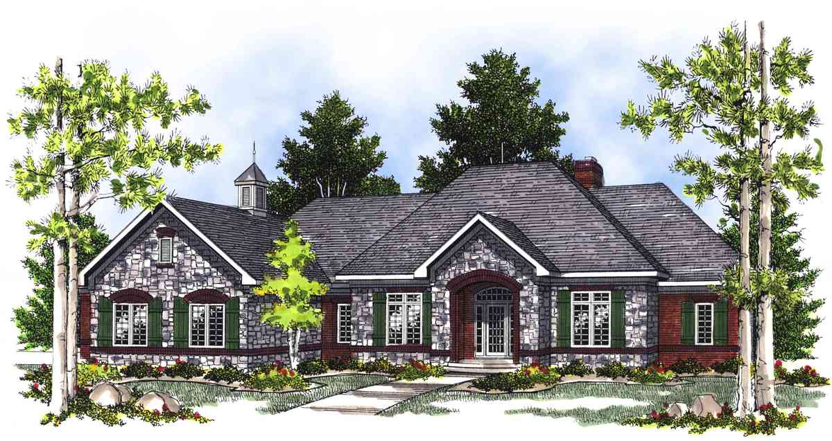 2 bedroom french country house plan 89409ah for Large french country house plans