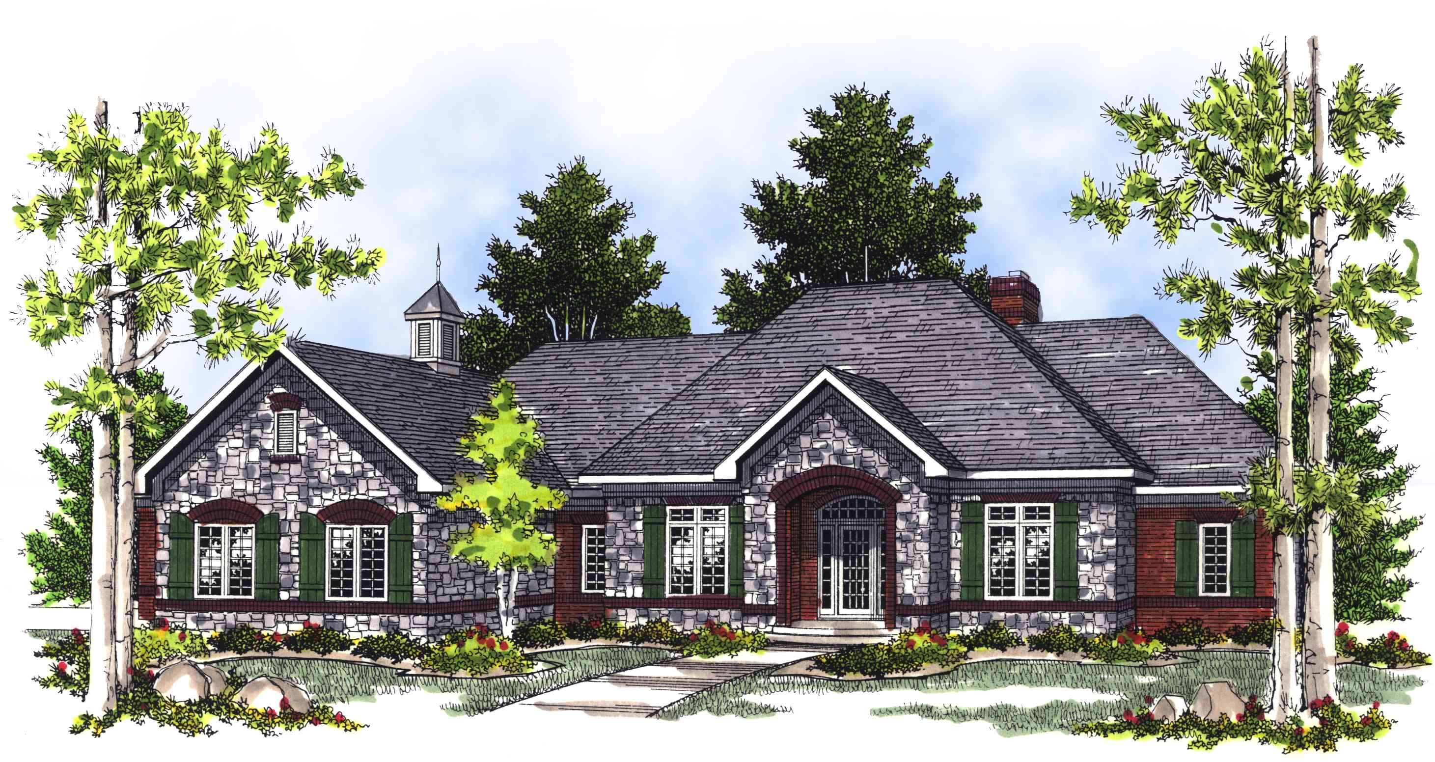 2 bedroom french country house plan 89409ah for French country home designs
