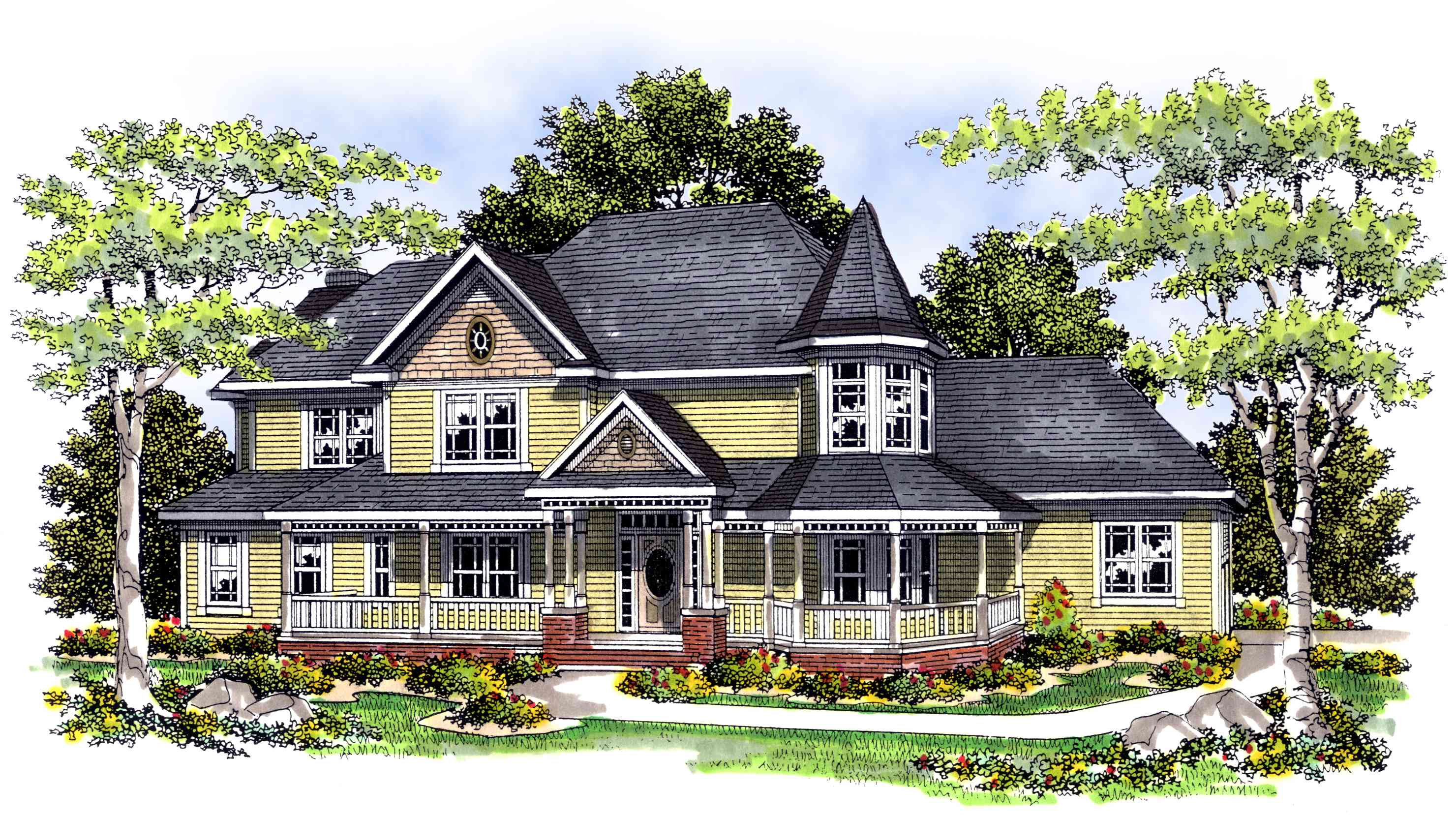 4 bedroom victorian style home plan 89415ah for Victorian style home plans