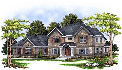 Beautiful two story home plan 8944ah architectural for Beautiful two story homes