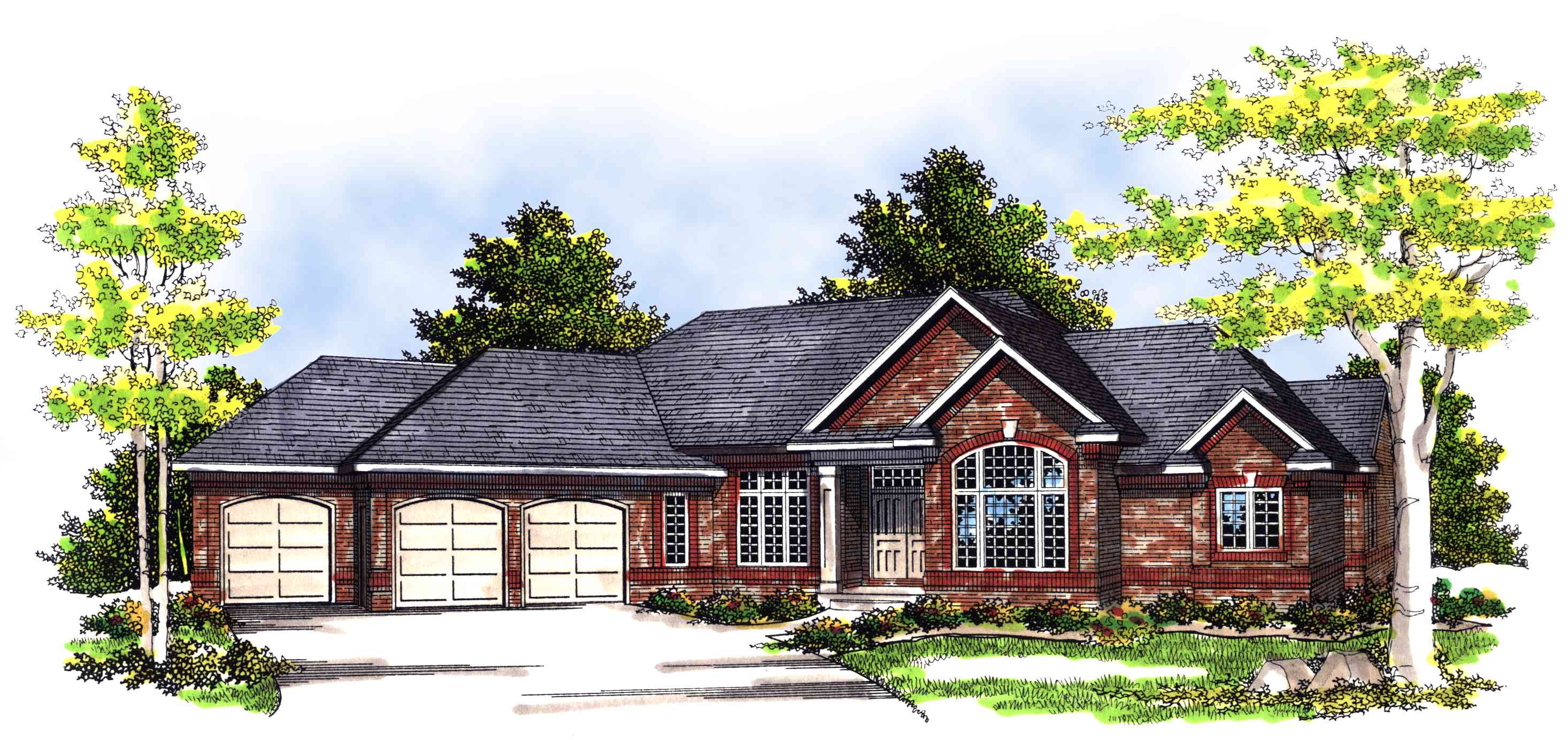 Angled ranch home plan 89442ah architectural designs for Angled house plans