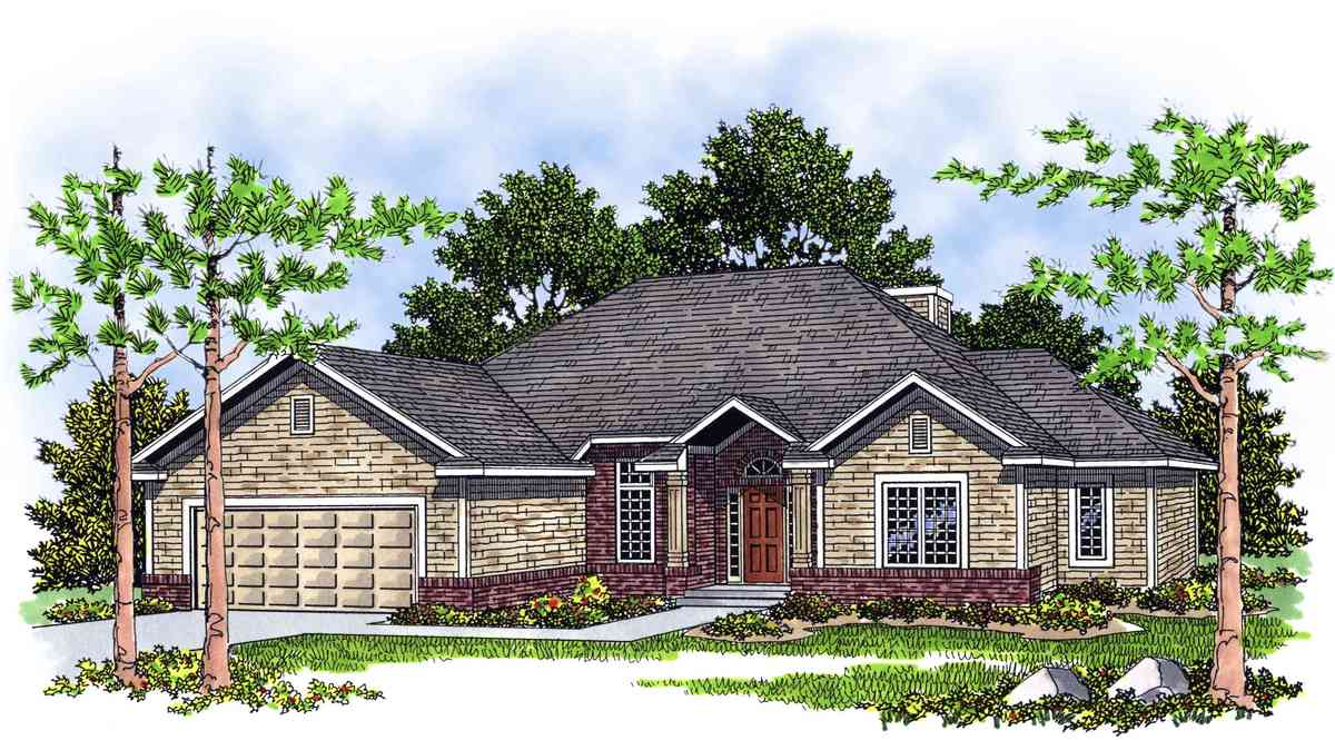 Charming traditional ranch home plan 8949ah for Traditional ranch home plans