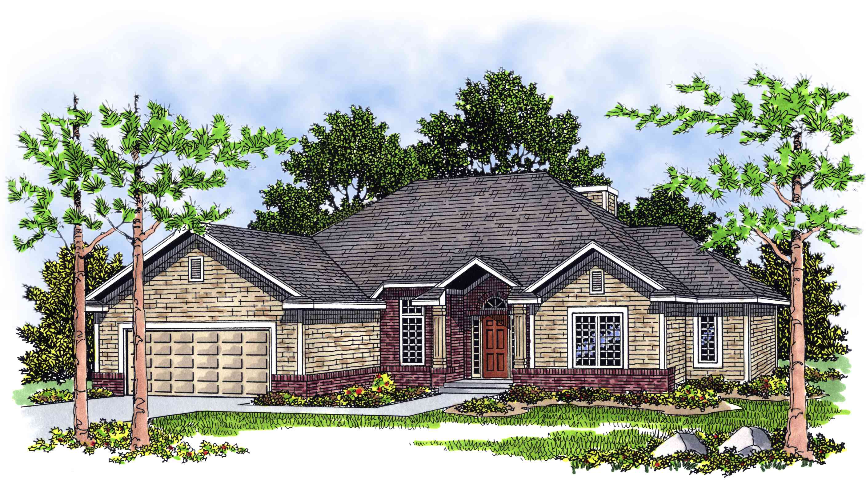 Charming traditional ranch home plan 8949ah 1st floor for Traditional ranch house