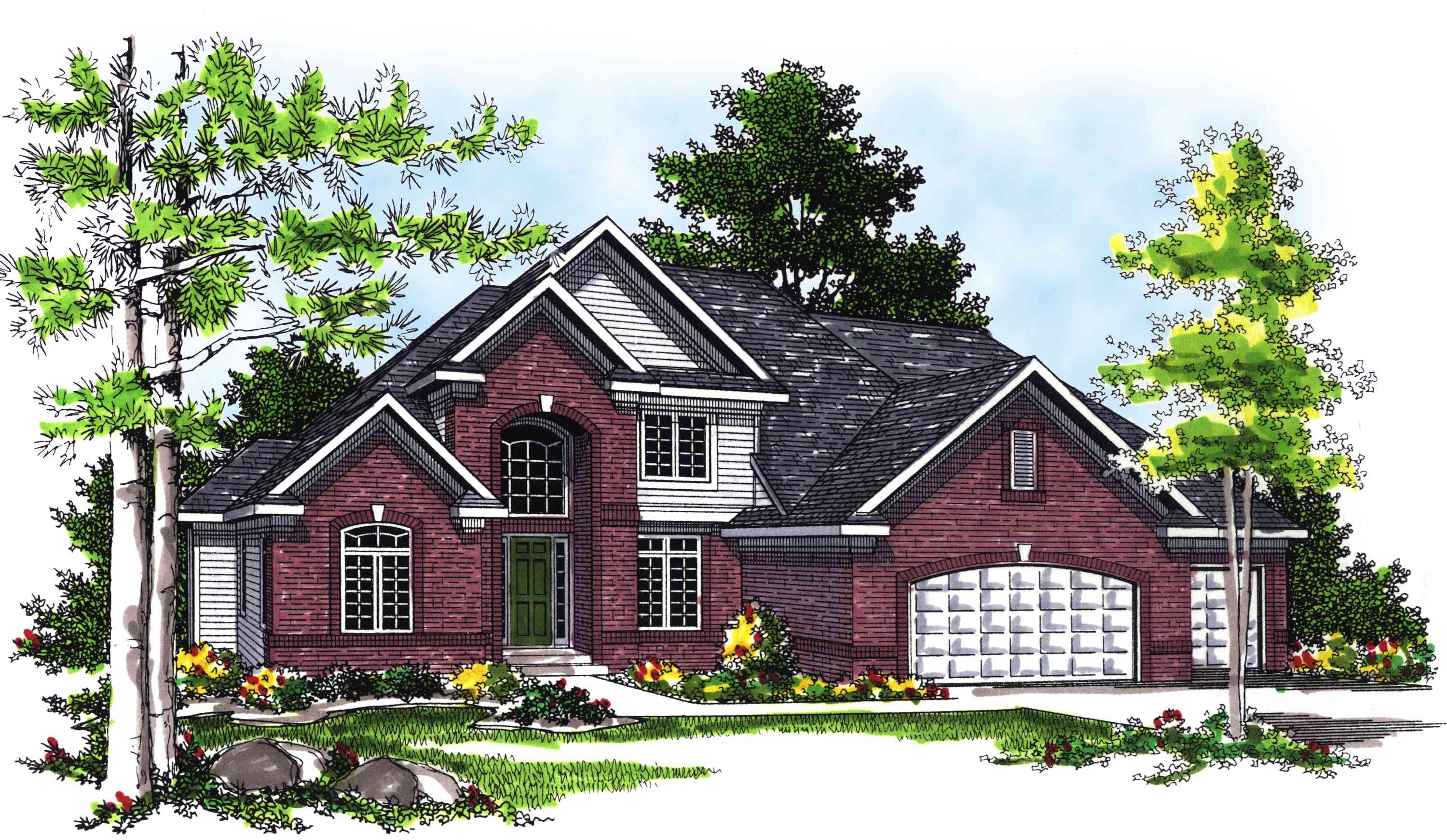 2 story 4 bedroom house plan with sunroom 89497ah for House plans with sunroom