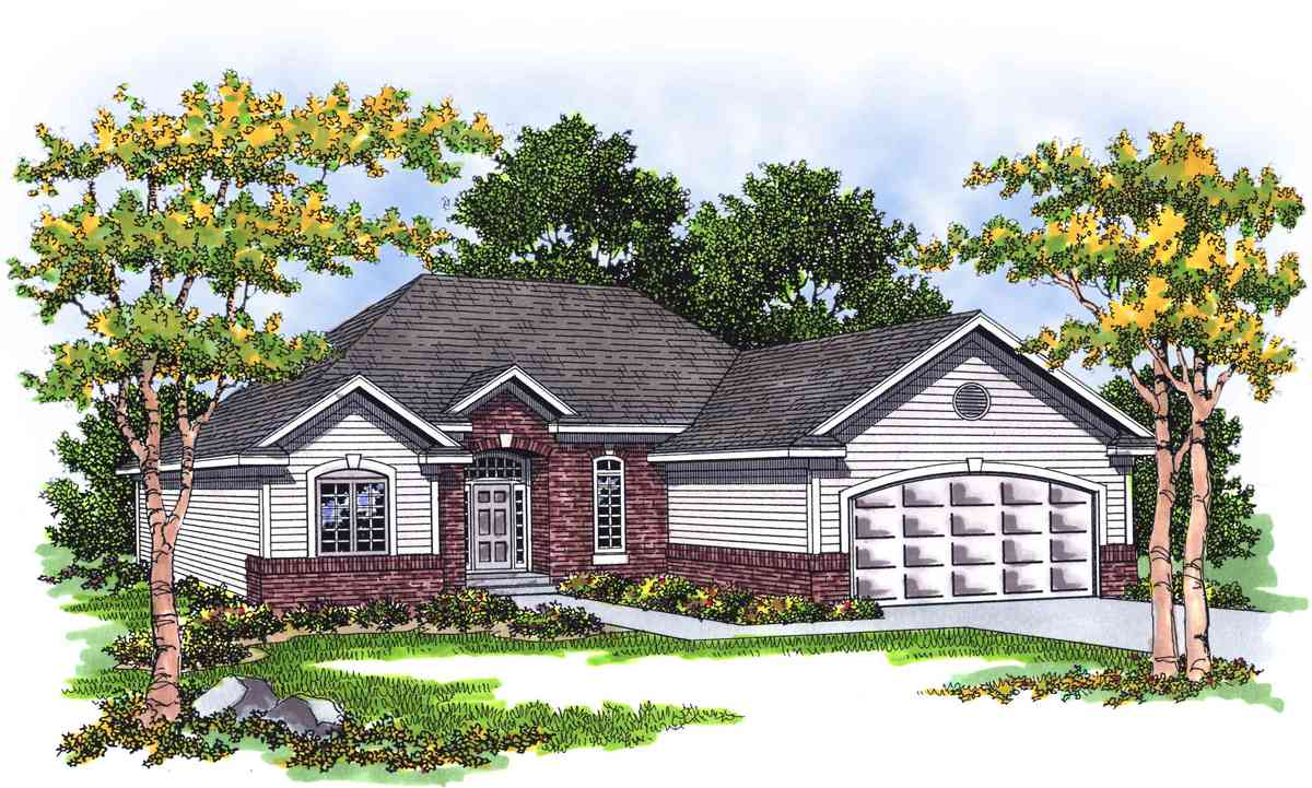 Traditional ranch with careful use of space 8950ah for Traditional ranch home plans