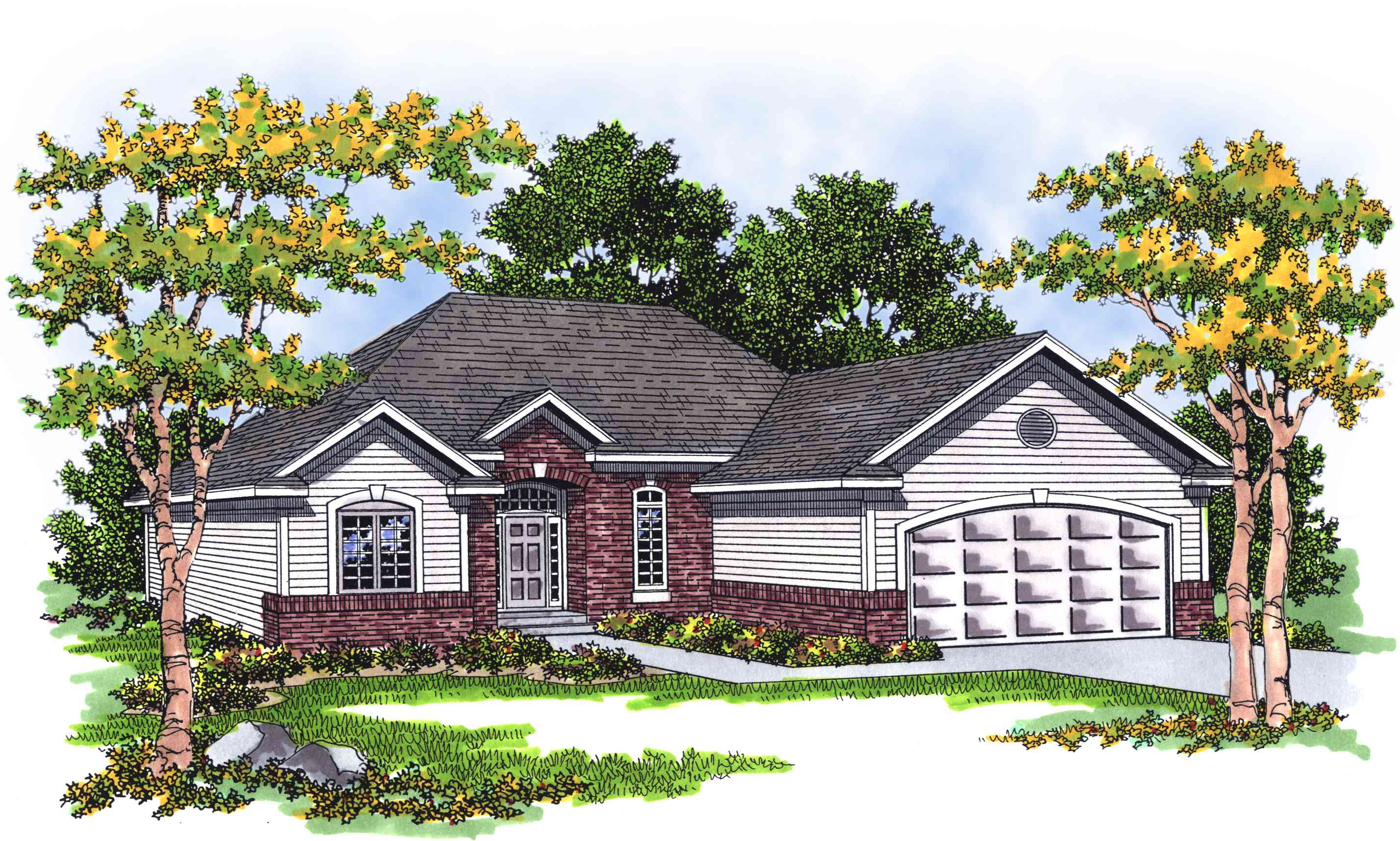Traditional ranch with careful use of space 8950ah for Traditional ranch house plans