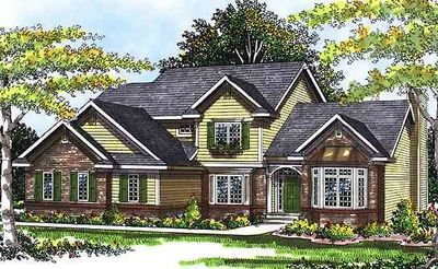 4 bedroom traditional 2 story house plan 89522ah for Traditional house plans two story