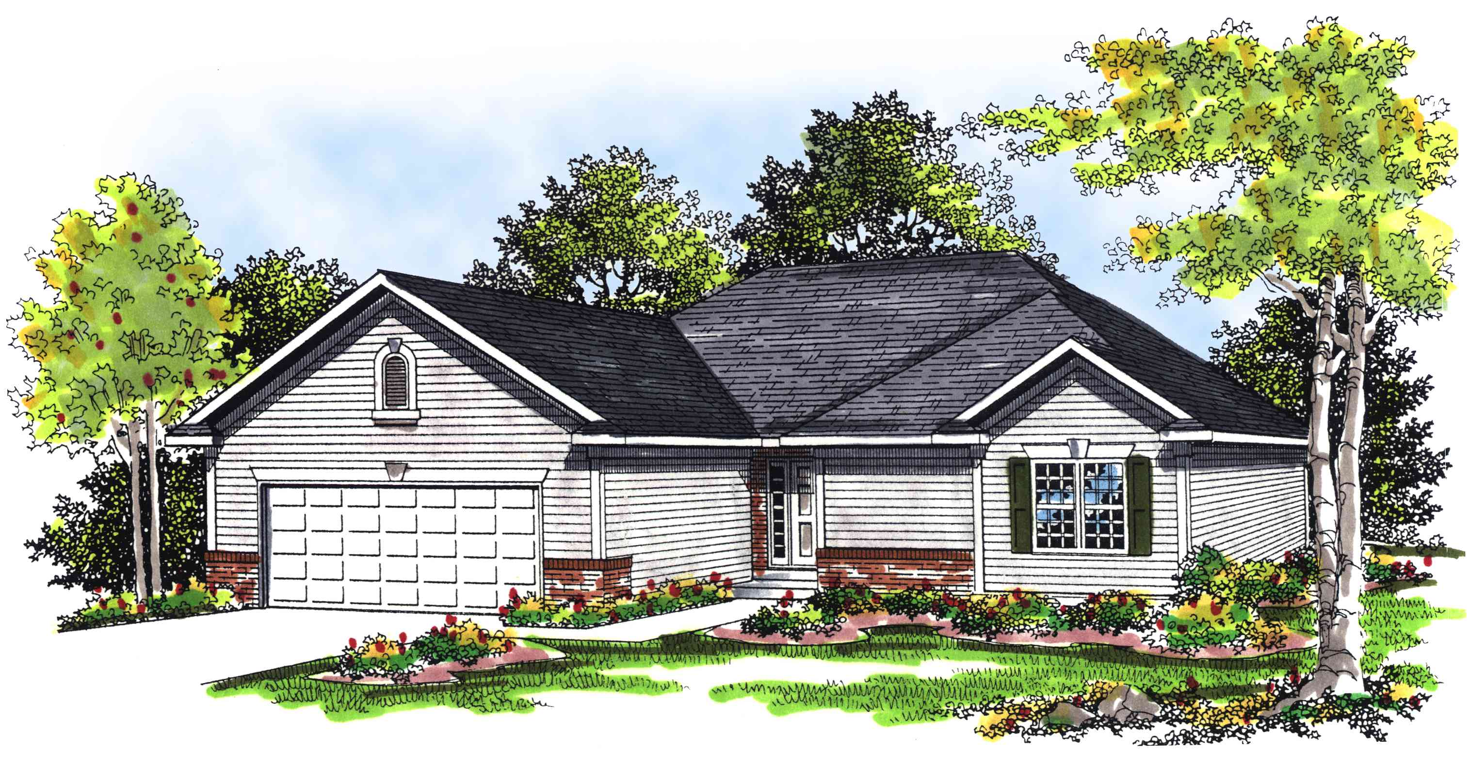 Classic ranch home plan 89528ah 1st floor master suite for Classic ranch home plans