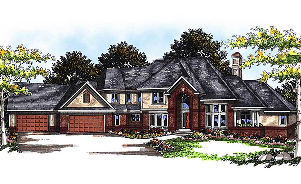 Unique 2 story 4 bedroom home plan 89541ah for Unique 2 bedroom house plans