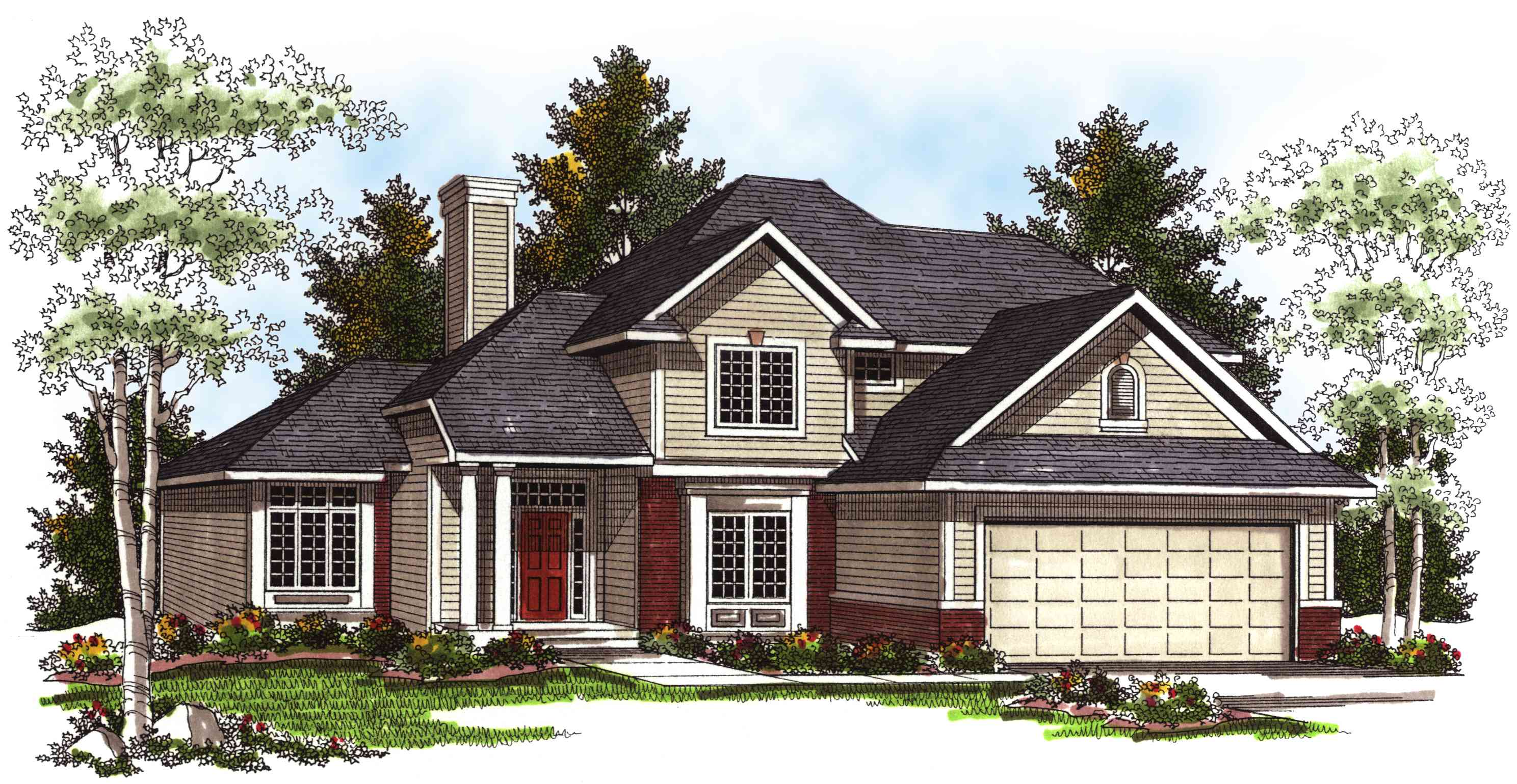 Functional 2 story 4 bedroom home plan 89562ah for Functional house plans