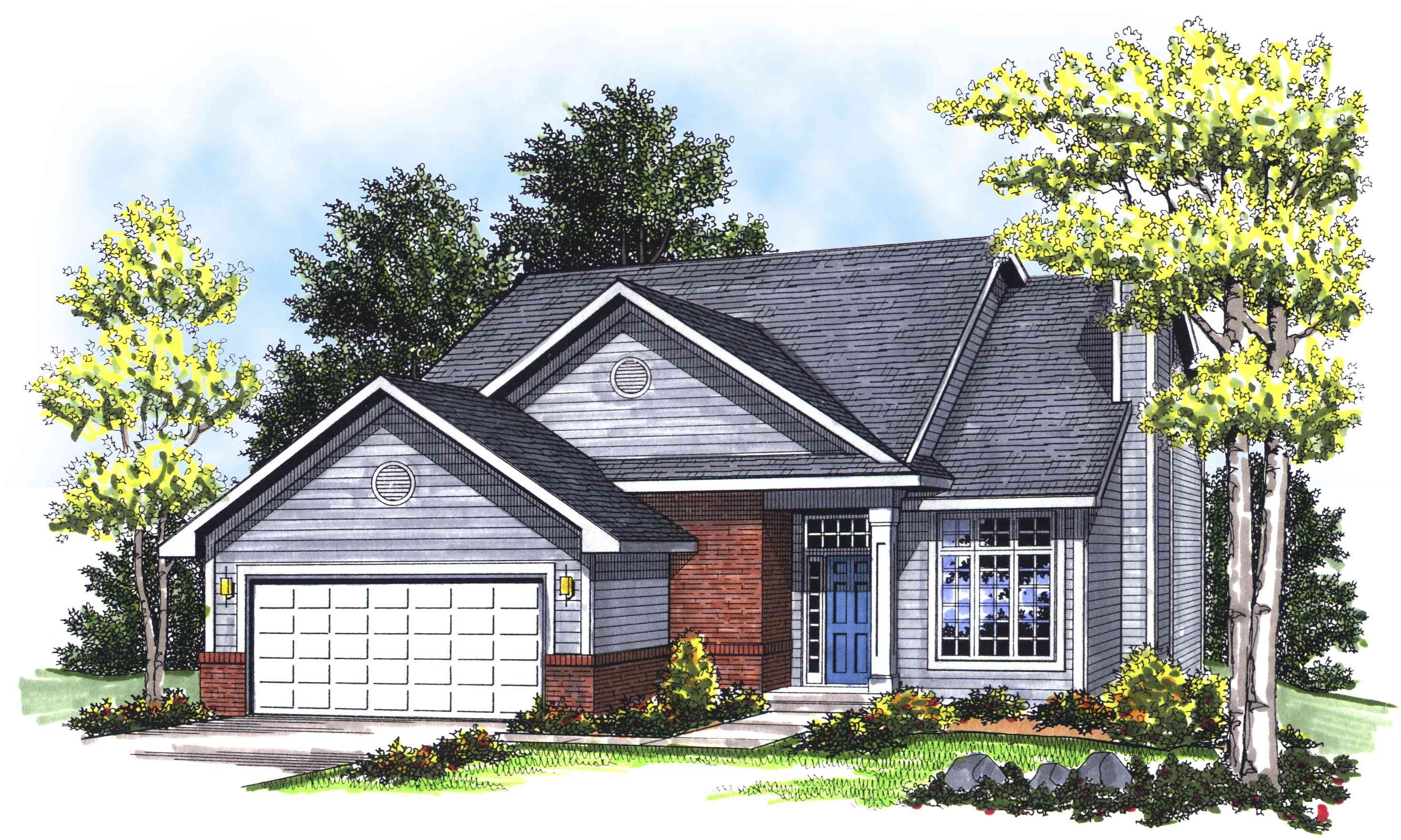 Traditional Two-Story Delight - 89613AH