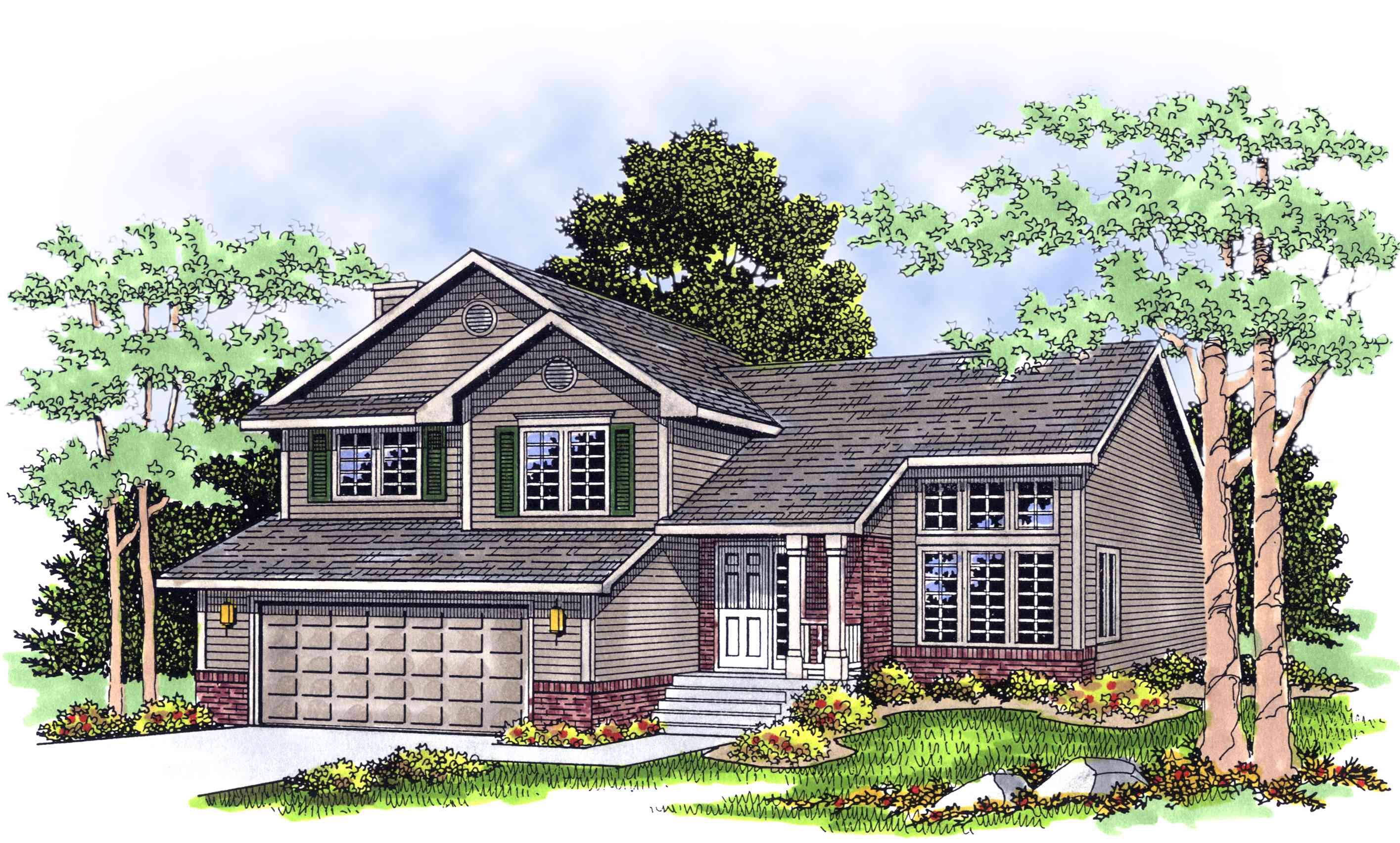 Split level home plan 8963ah architectural designs Split plan house
